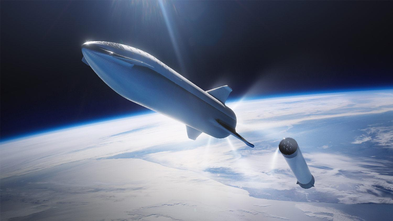 SpaceX BFR stijgt op