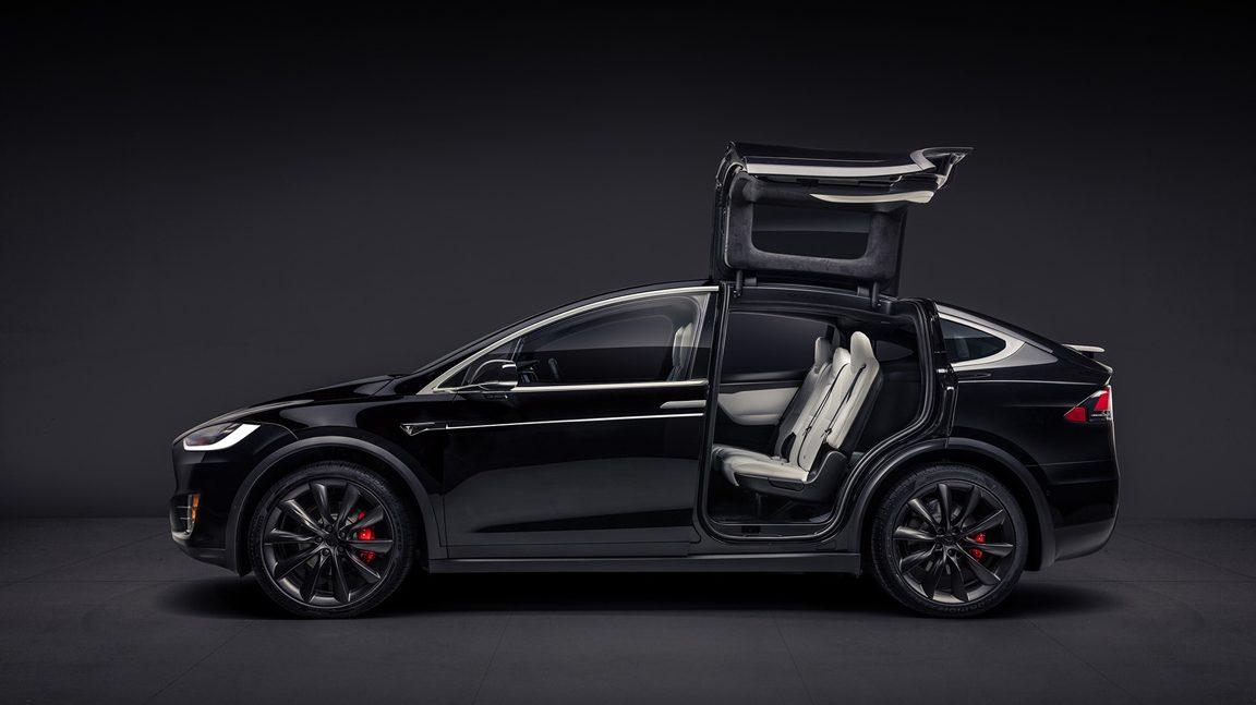 Tesla Model X Falcon Wing Deur