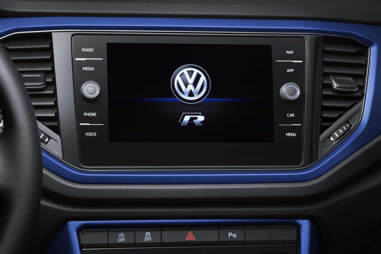 Volkswagen T-Roc R 2019 navigatie scherm