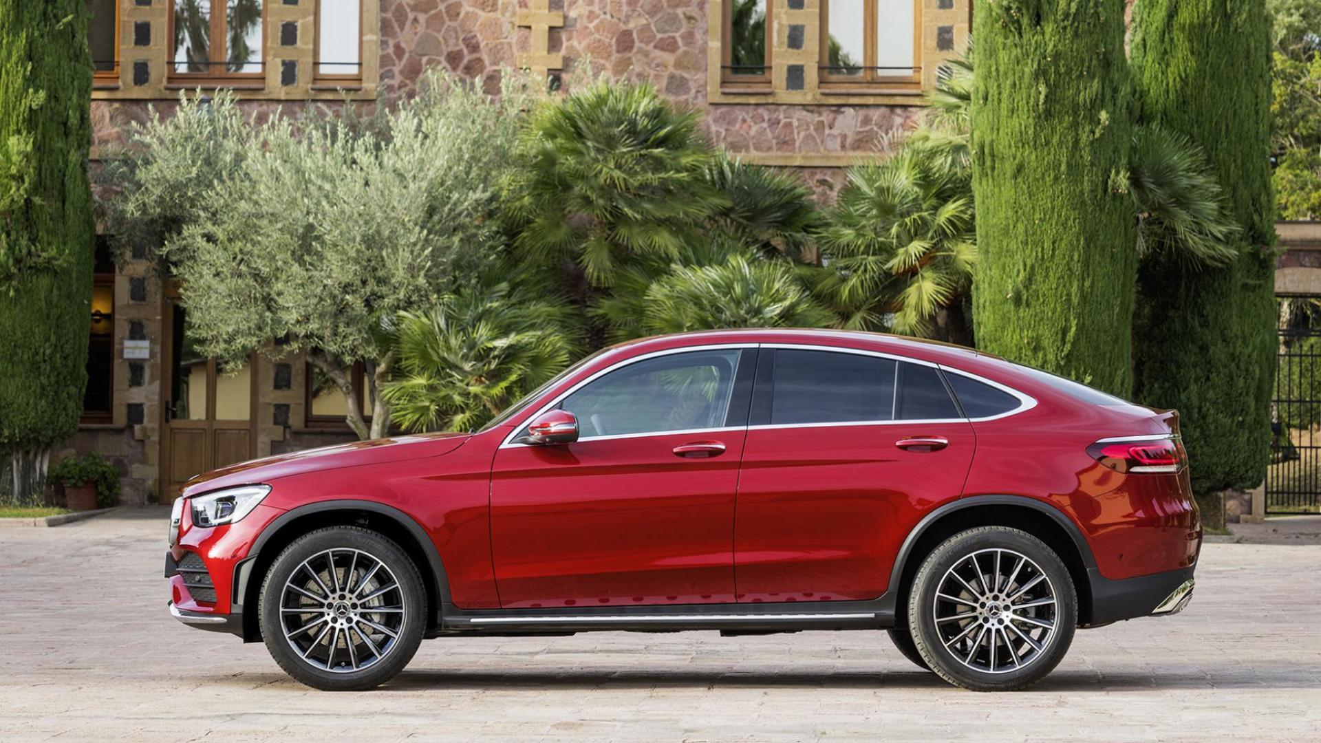 Mercedes GLC Coupé-facelift rood