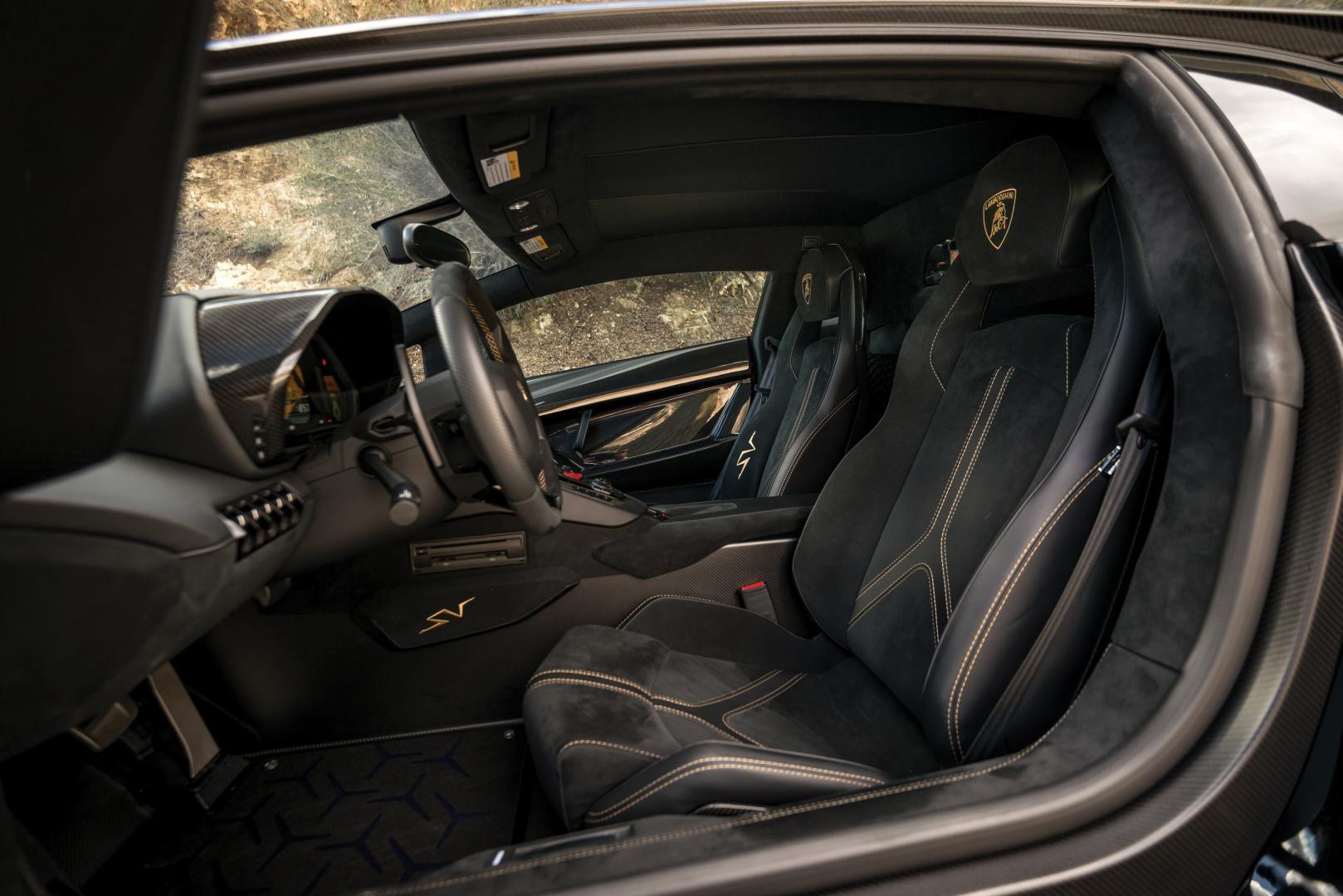 duurste Lamborghini Aventador SV interieur