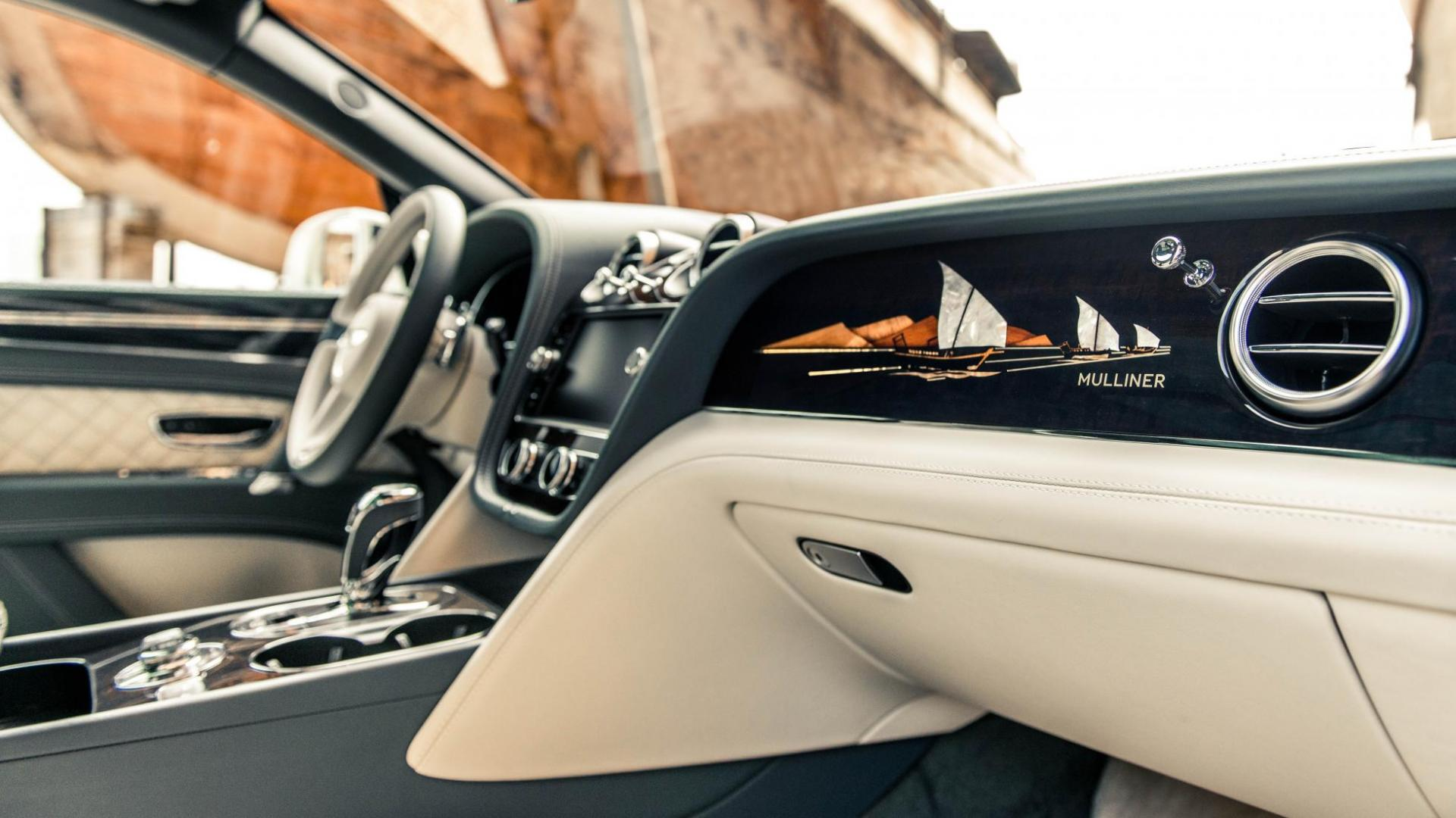 Bentley Bentayga Mulliner Pearl of the Gulf interieur