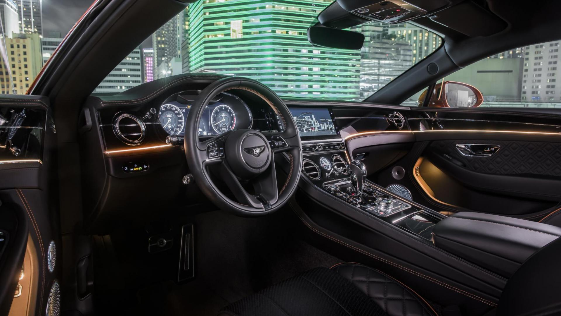 Bentley Continental GT V8 interieur en dashboard