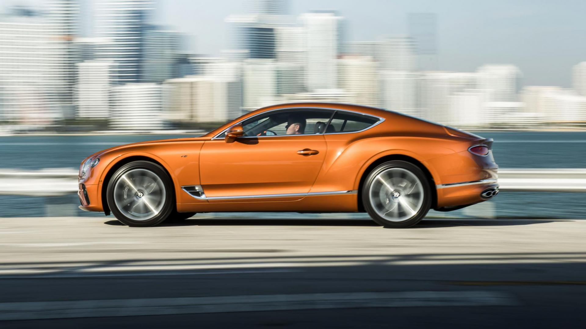 Bentley Continental GT V8 oranje
