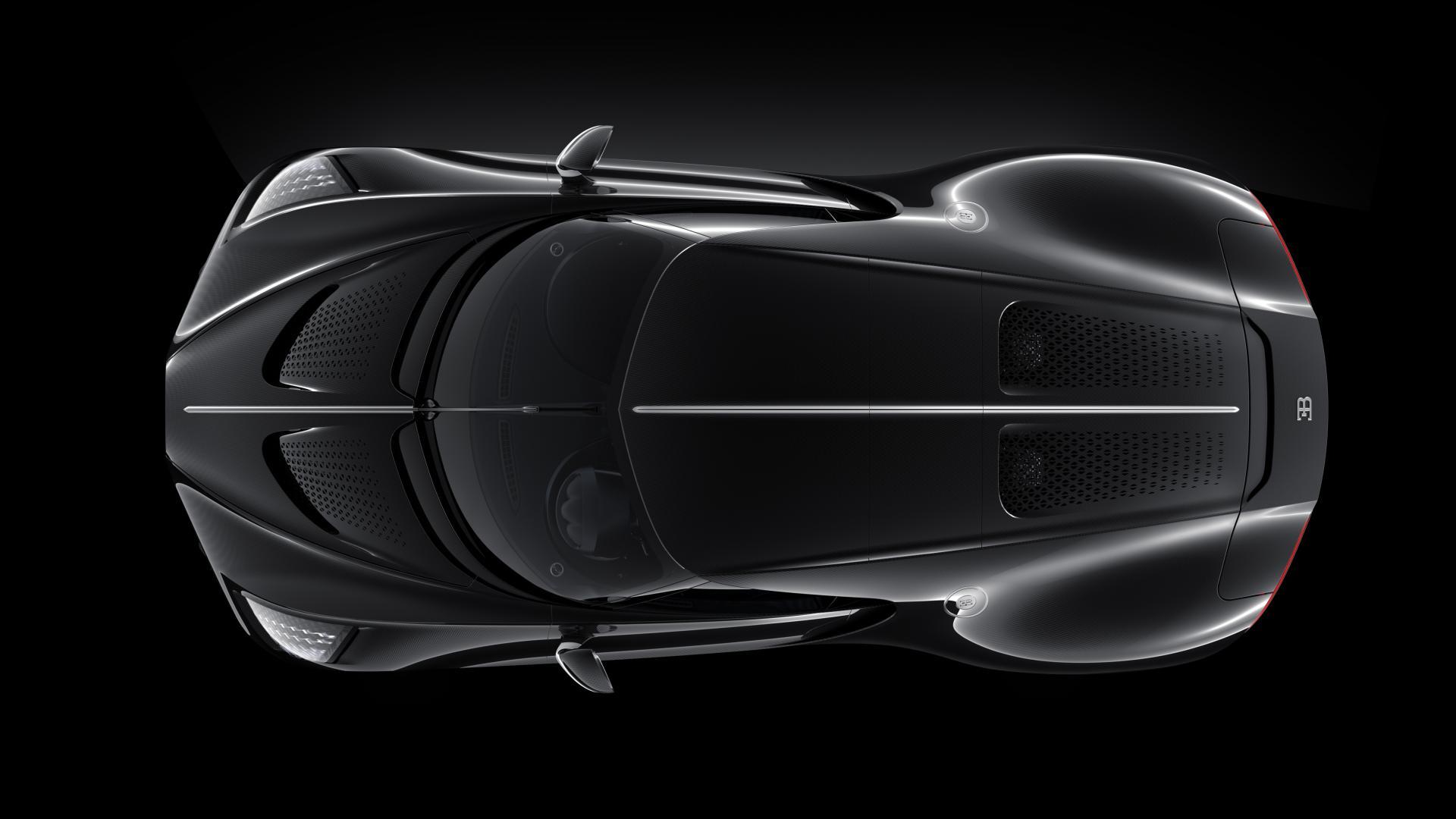 Bugatti La Voiture Noire bovenaanzicht
