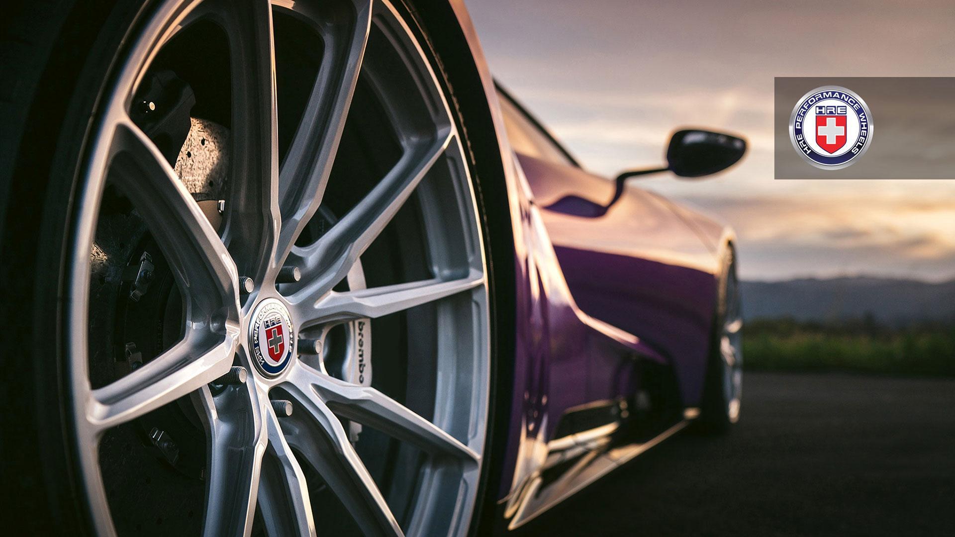 Ford GT HRE wielen paars