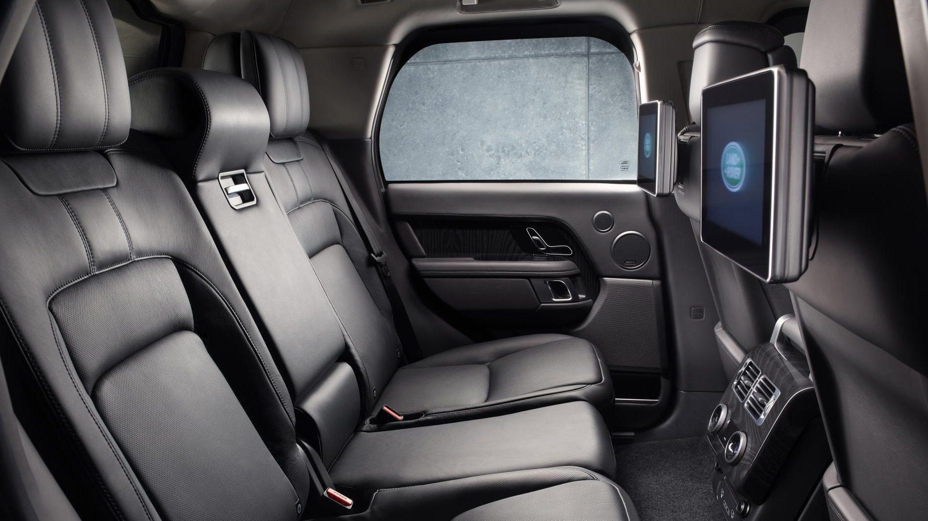 Gepantserde Range Rover Sentinel interieur