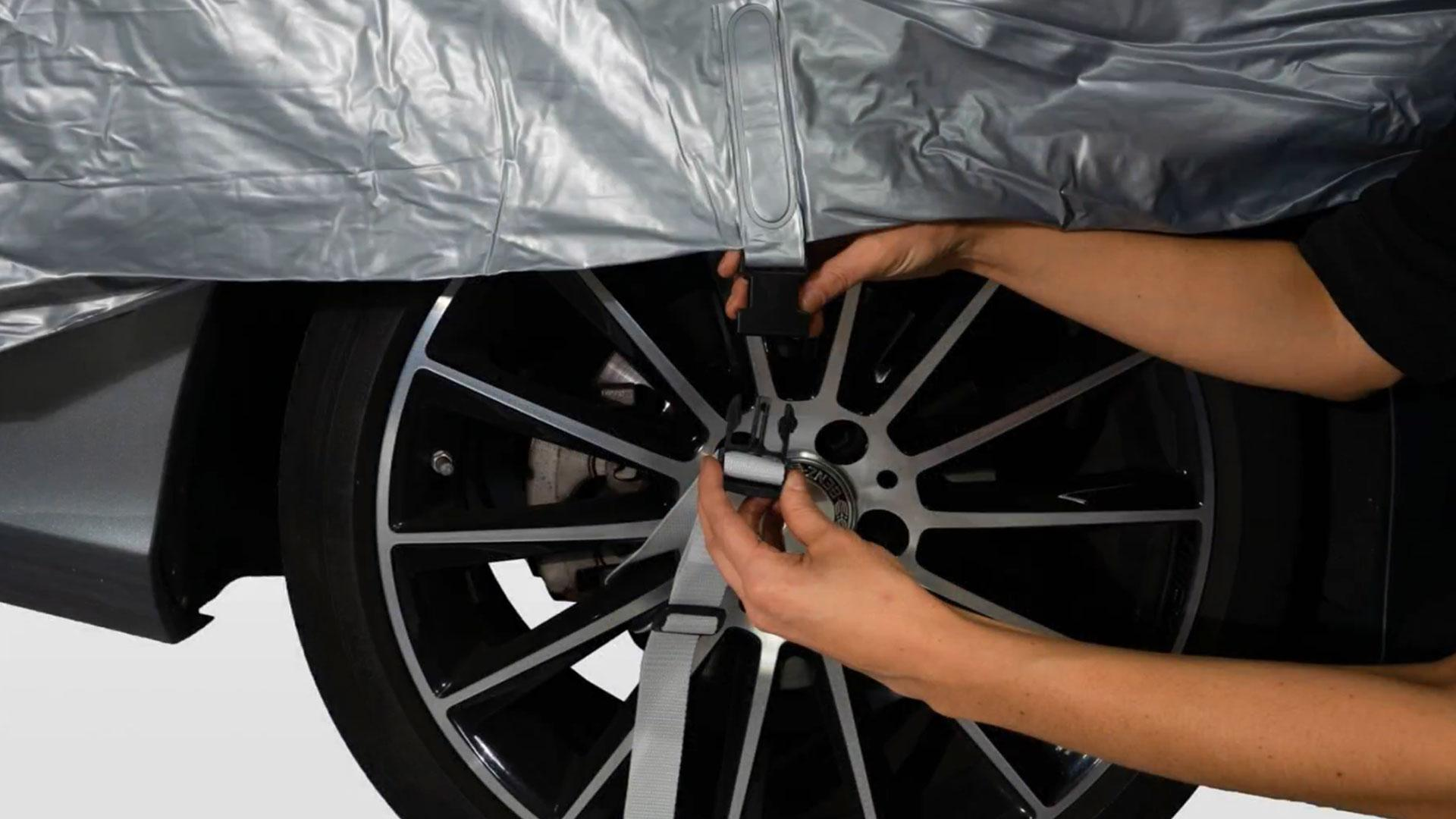 Auto beschermen tegen hagel met Hailsuit