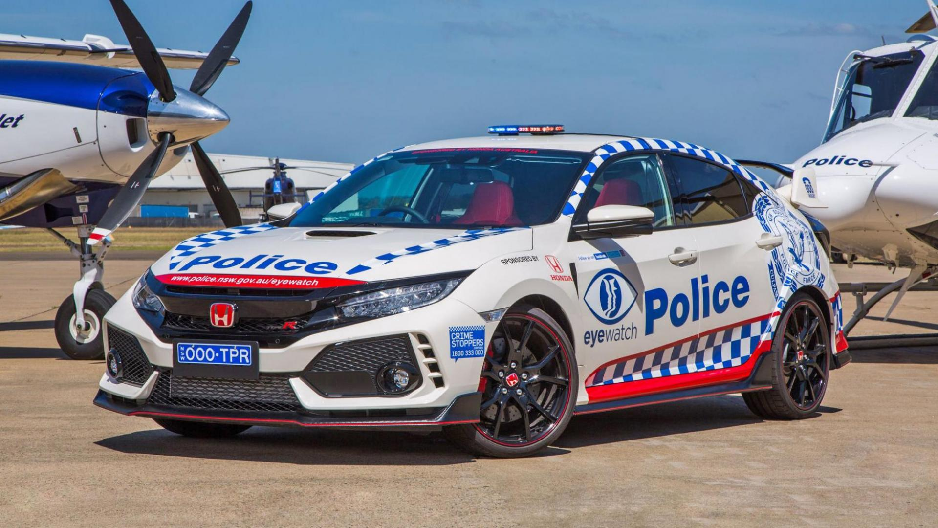 Honda Civic Type R-politieauto