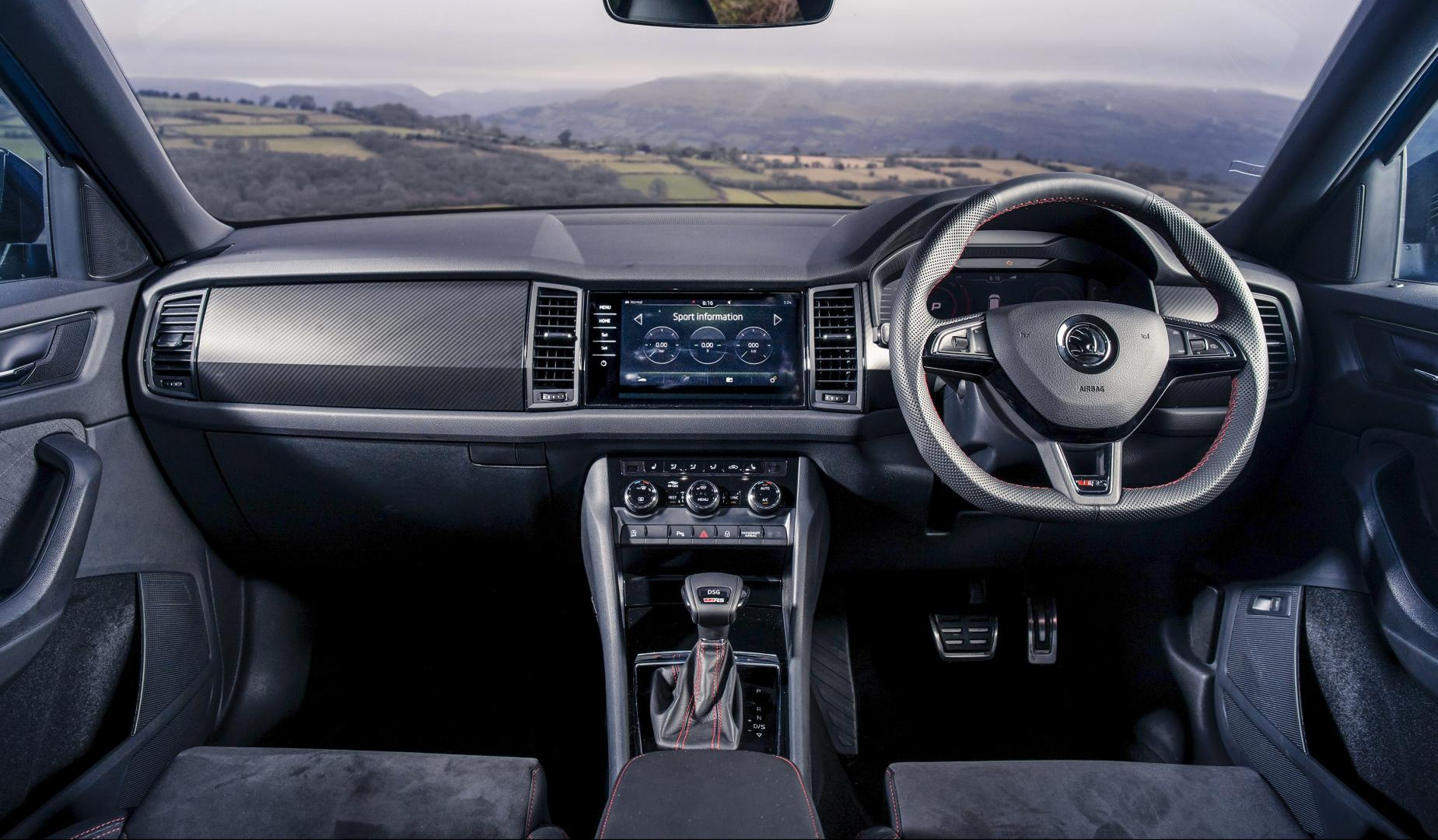 Skodia Kodiaq RS interieur dashboard