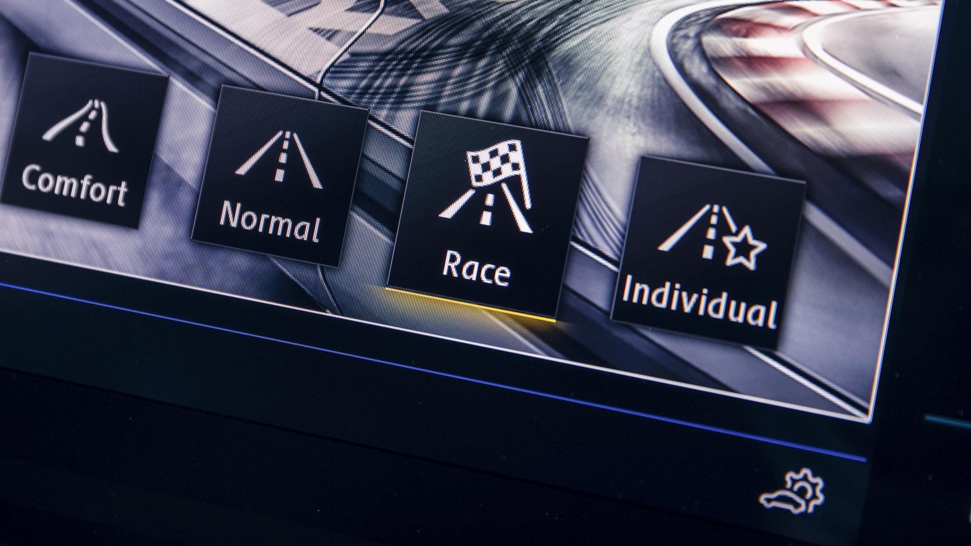 Volkswagen Golf R scherm