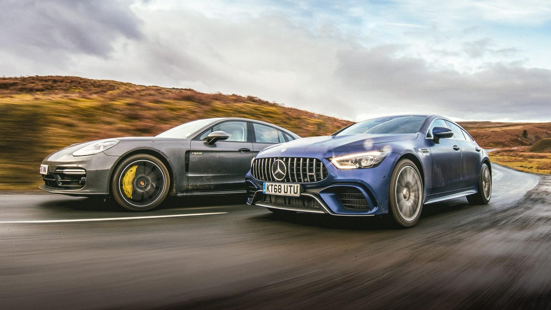 Mercedes-AMG GT 63 S 4Matic+ 4-Door Coupé vs Porsche Panamera Turbo S E-Hybrid