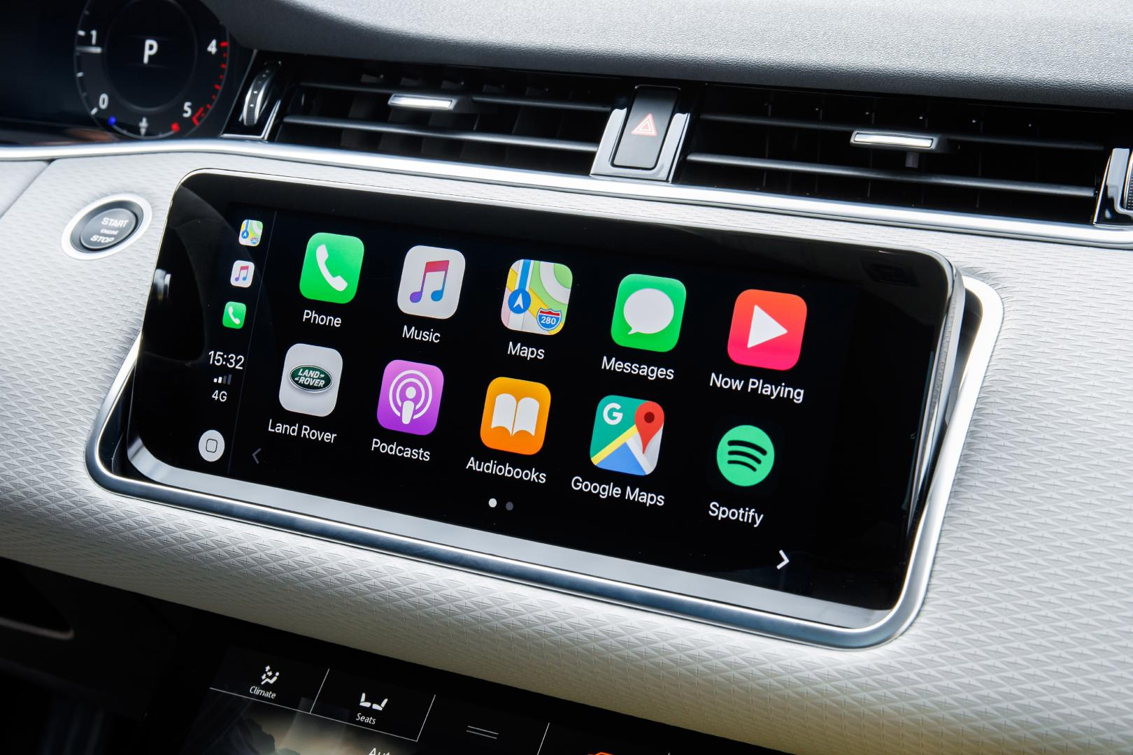 Range Rover Evoque Carplay navigatie apple