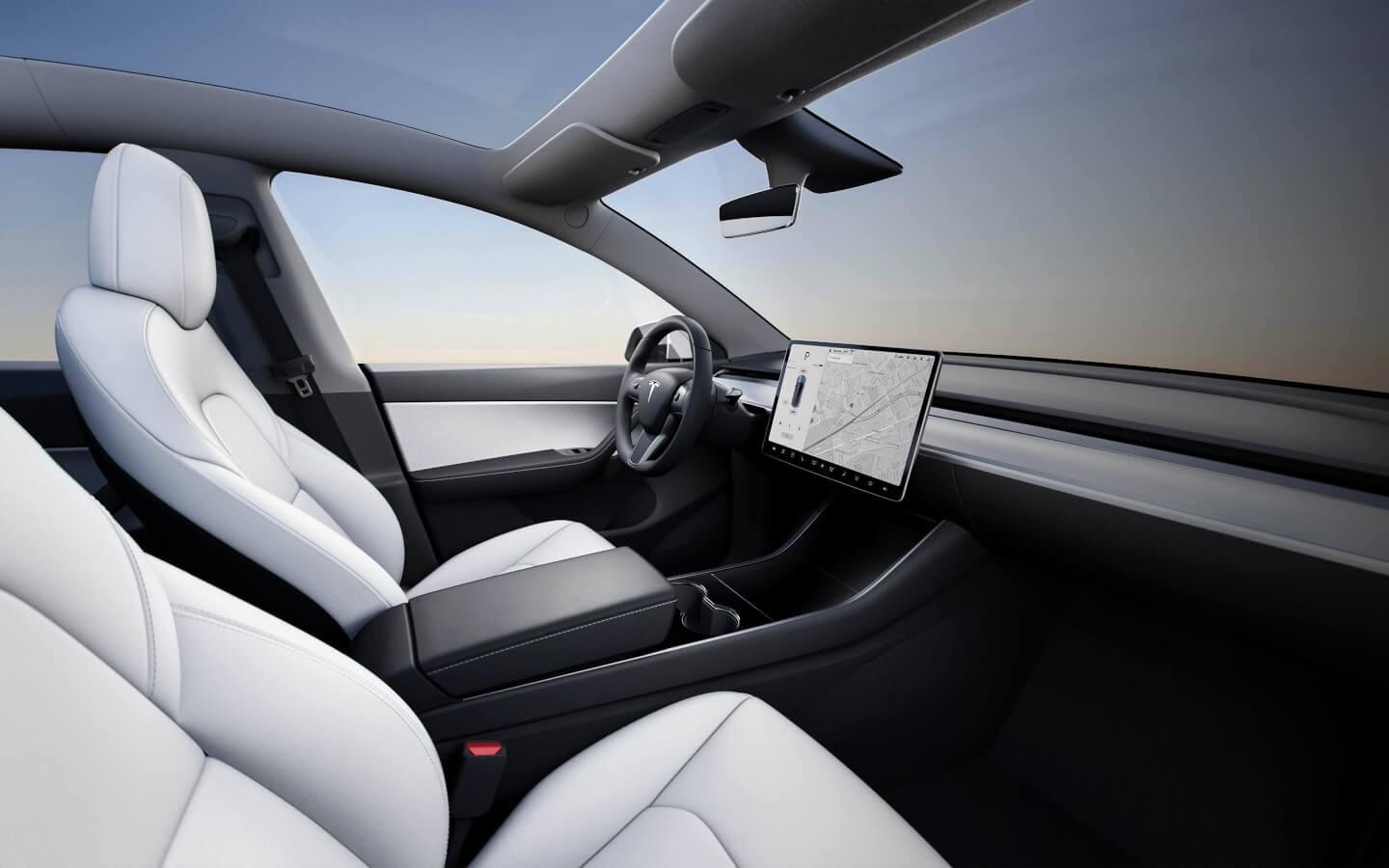Tesla Model Y 2019 interieur dashboard