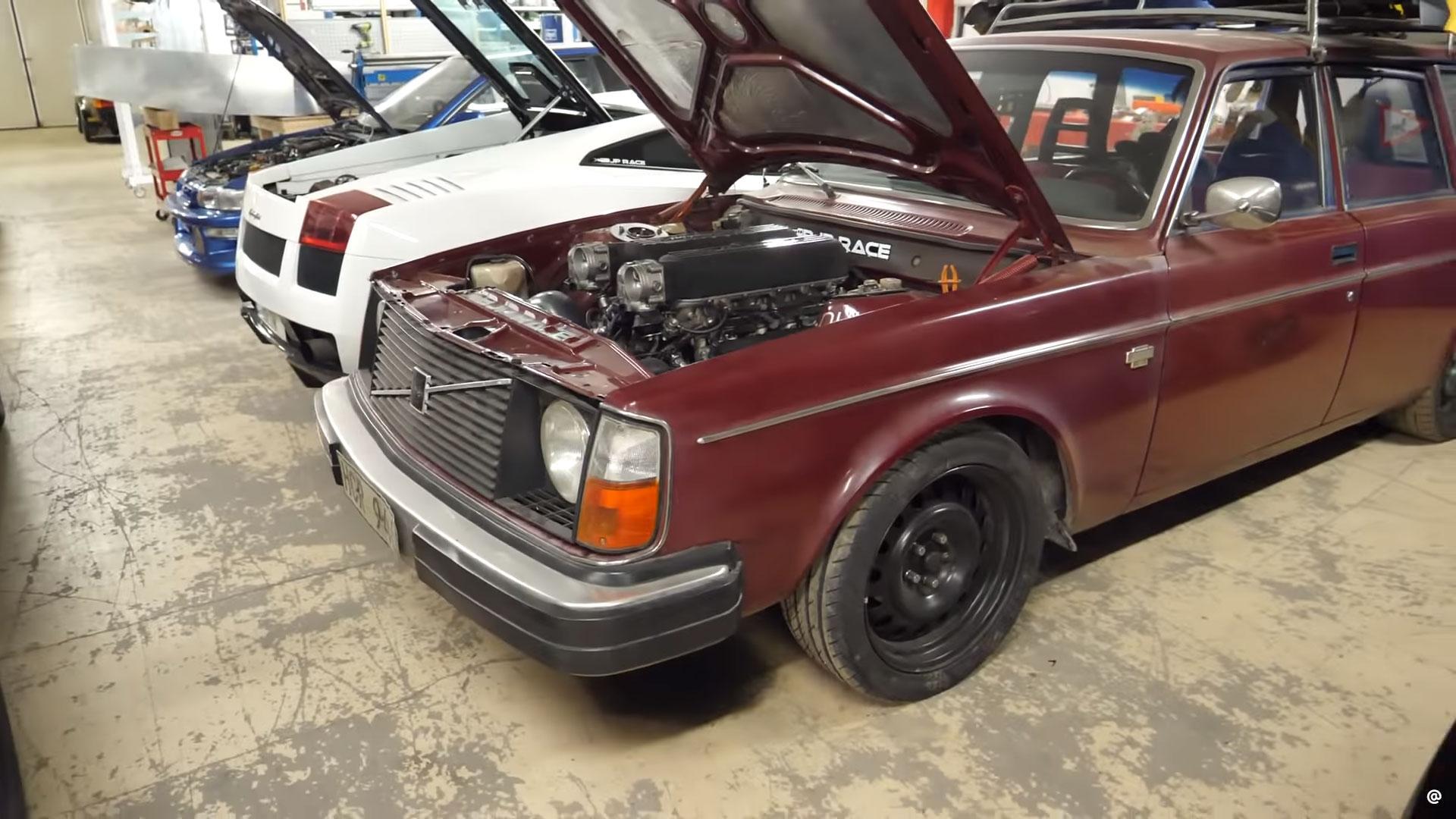 Volvo 245 met Lambo-V10