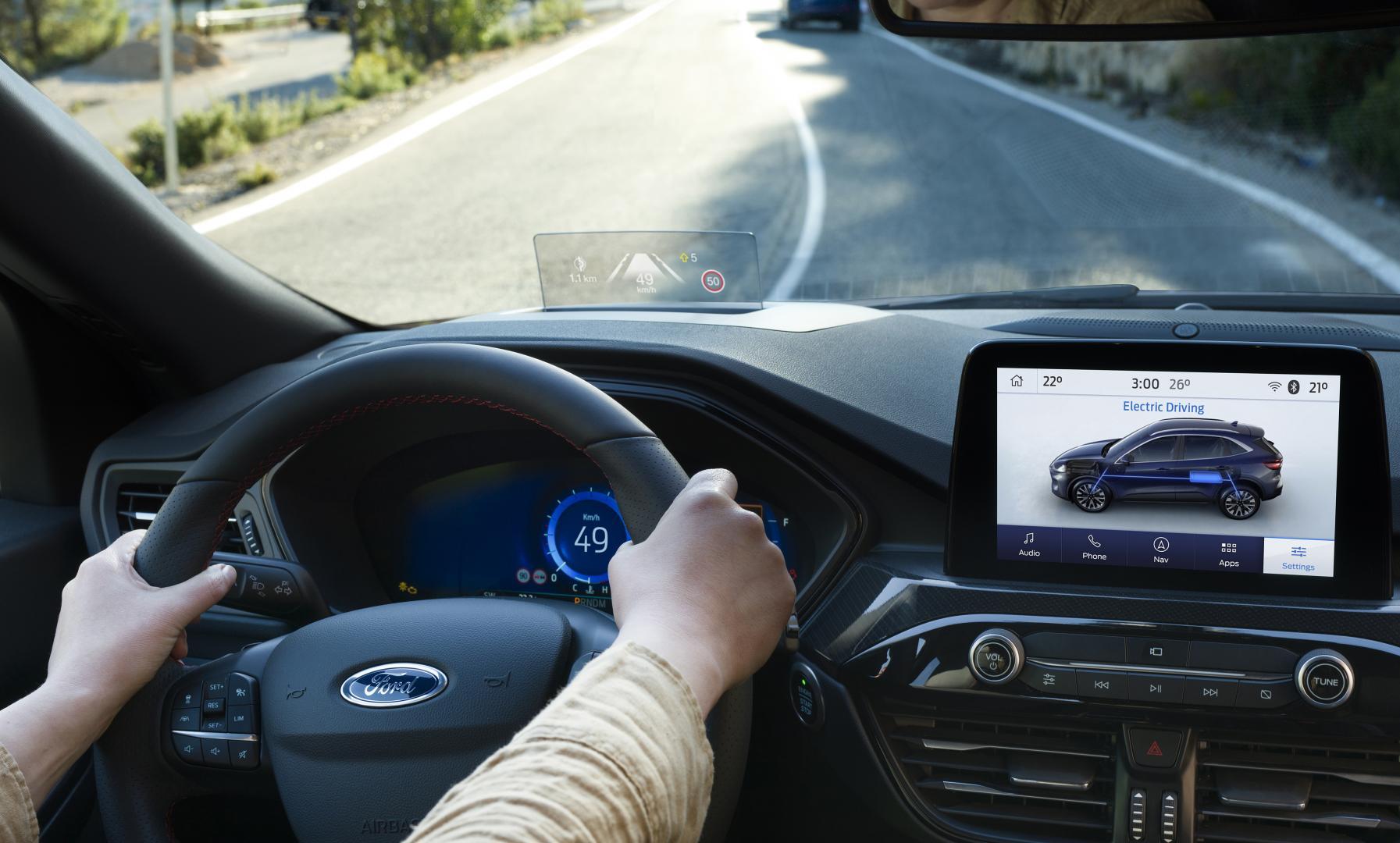 Nieuwe Ford Kuga 2019 head-up display