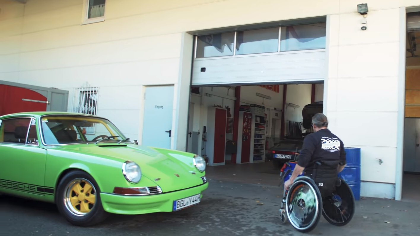Porsche 911 zonder pedalen