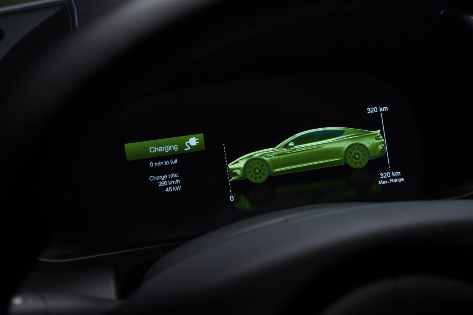 Aston Martin Rapide E laden actieradius