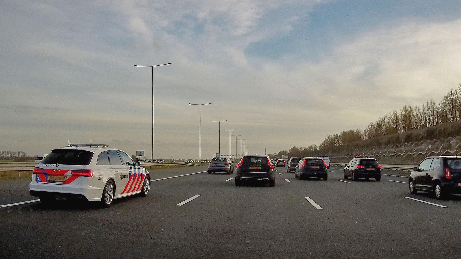 Audi A6 van Politie op A2 richting utrecht