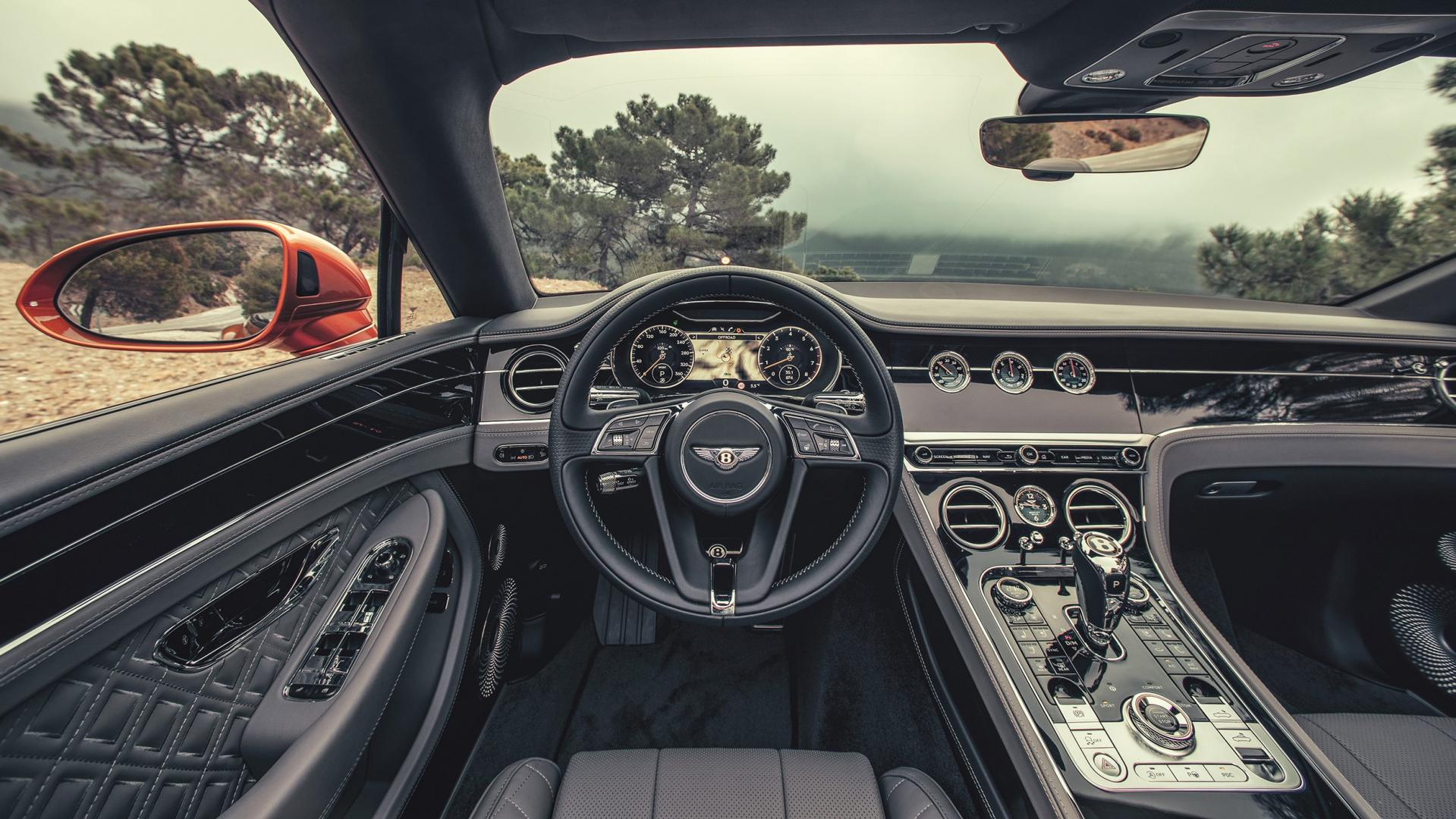 Bentley Continental GT Convertible interieur dashboard