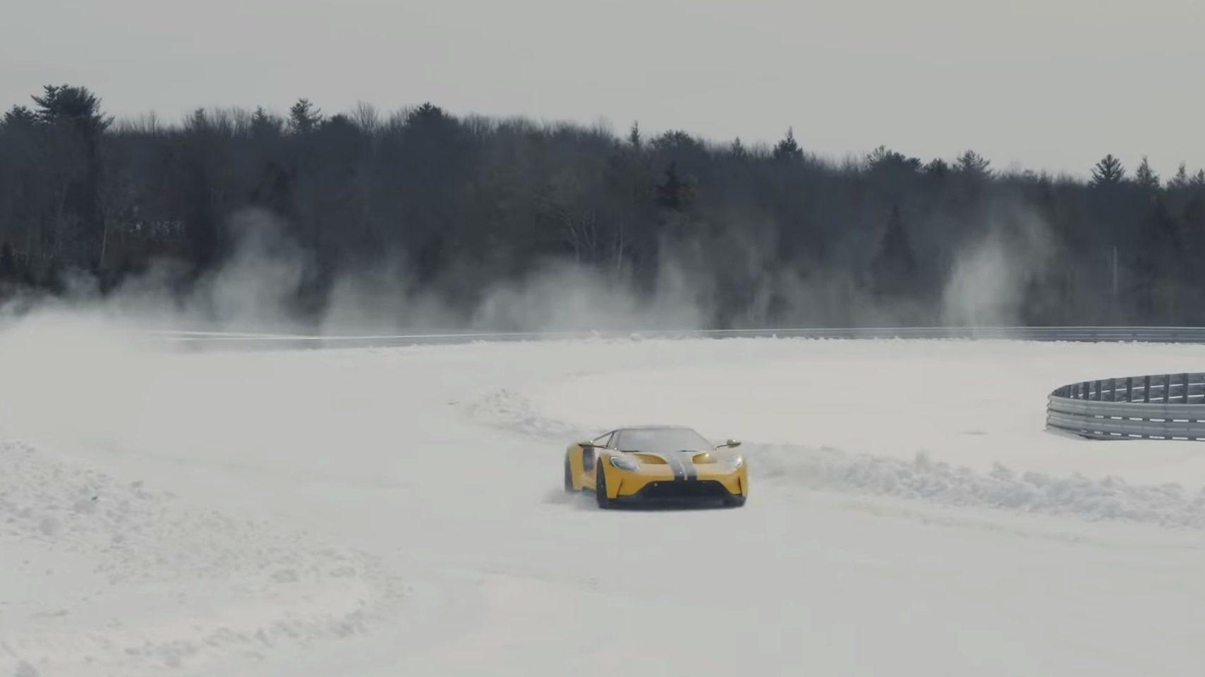 Driften in een Ford GT - 14 jaar