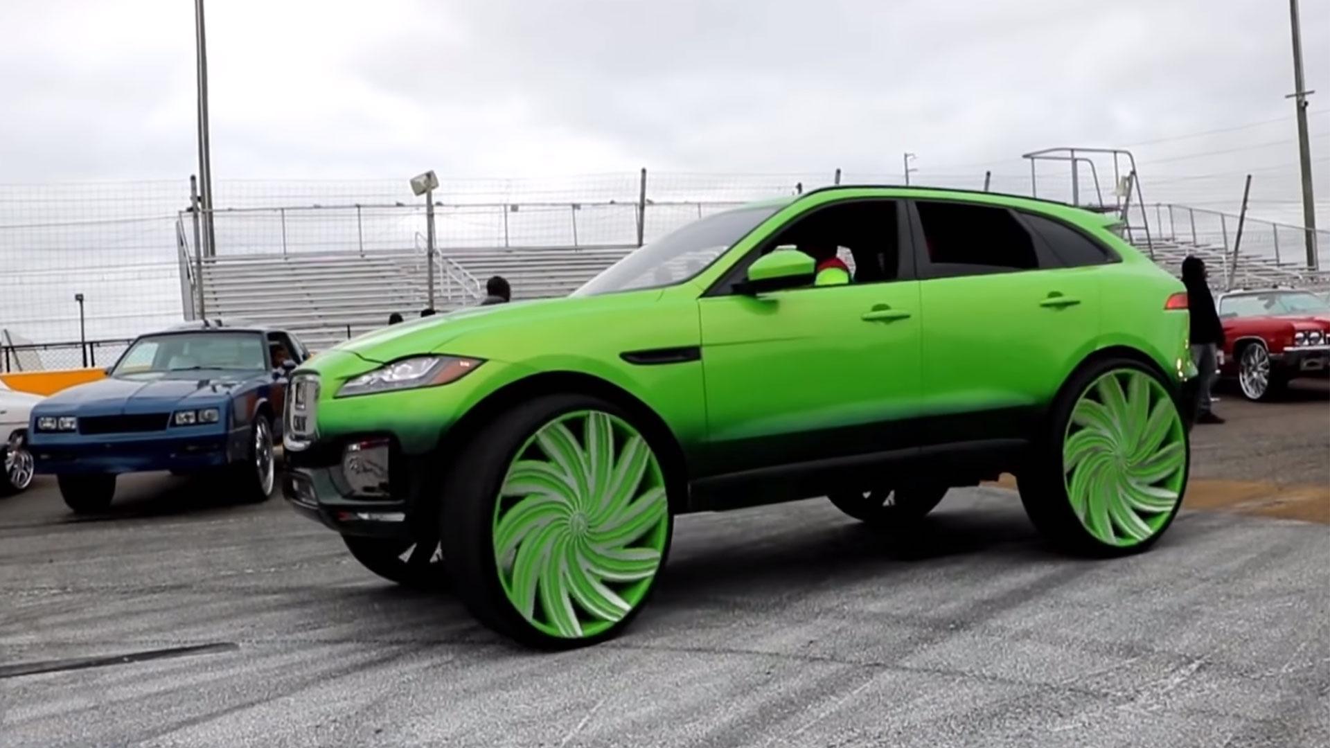 Jaguar F-Pace op 32-inch wielen