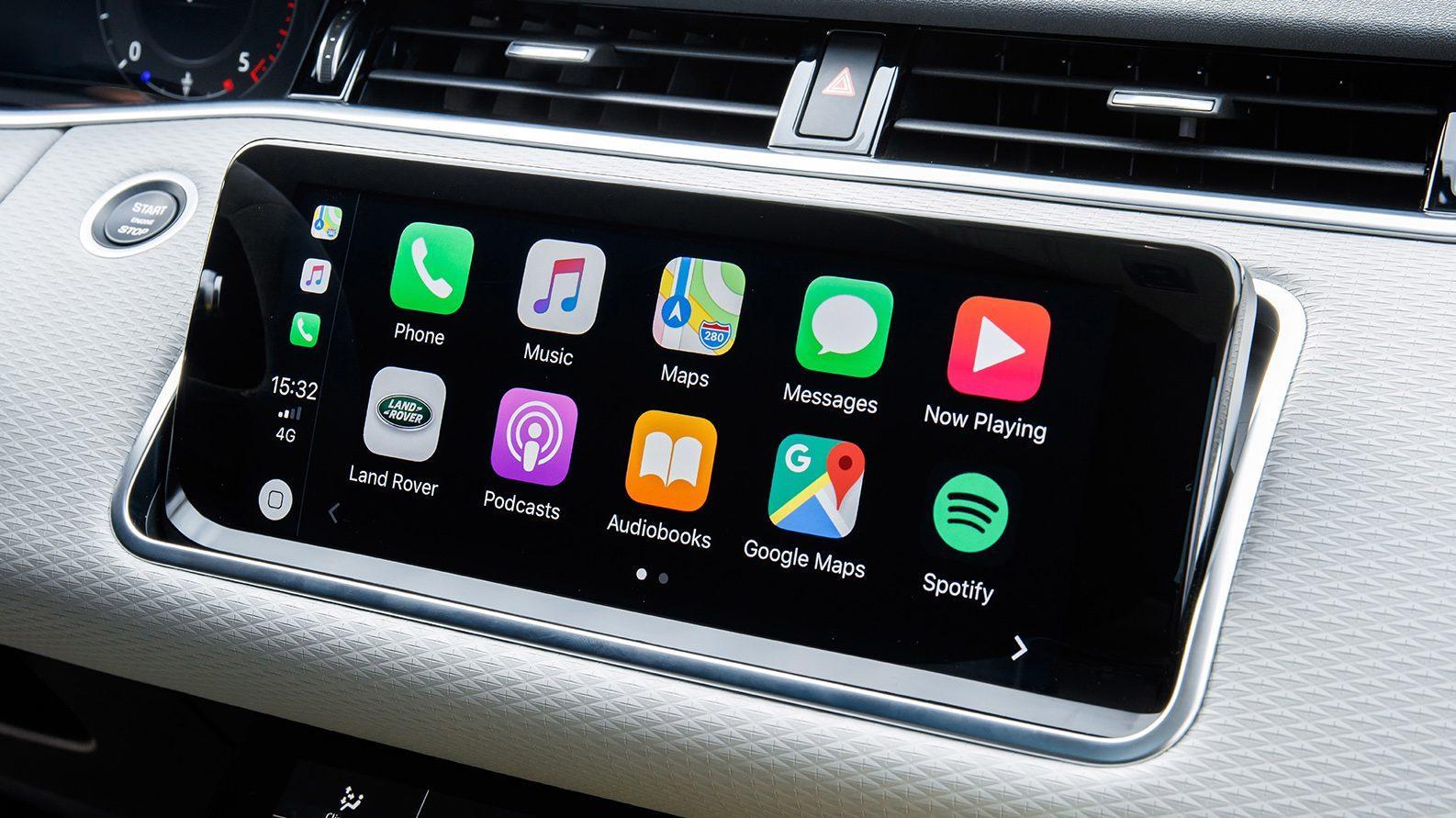 Range Rover Evoque P300 HSE R-Dynamic interieur scherm