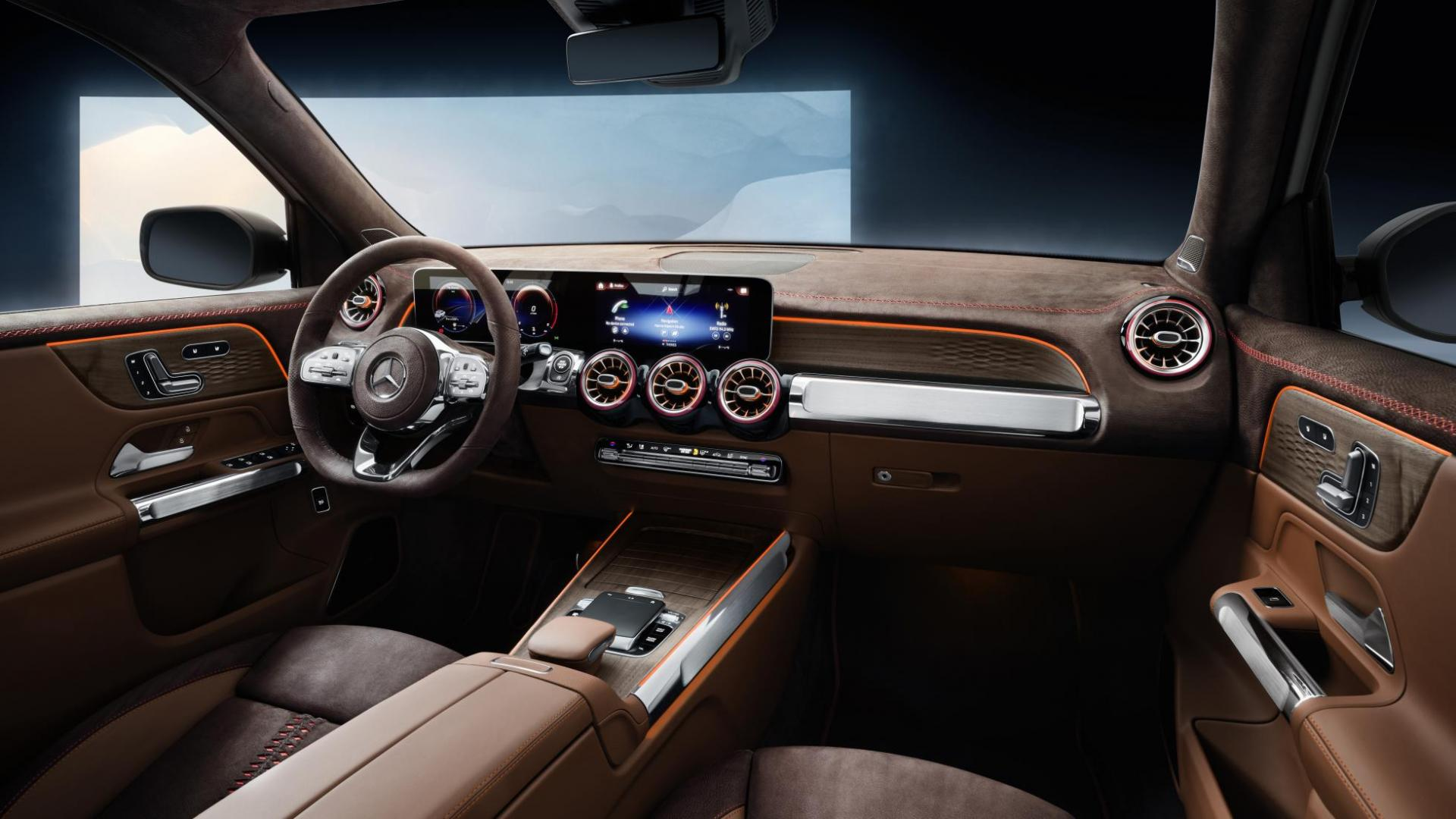 Mercedes GLB Concept 2019 interieur dashboard