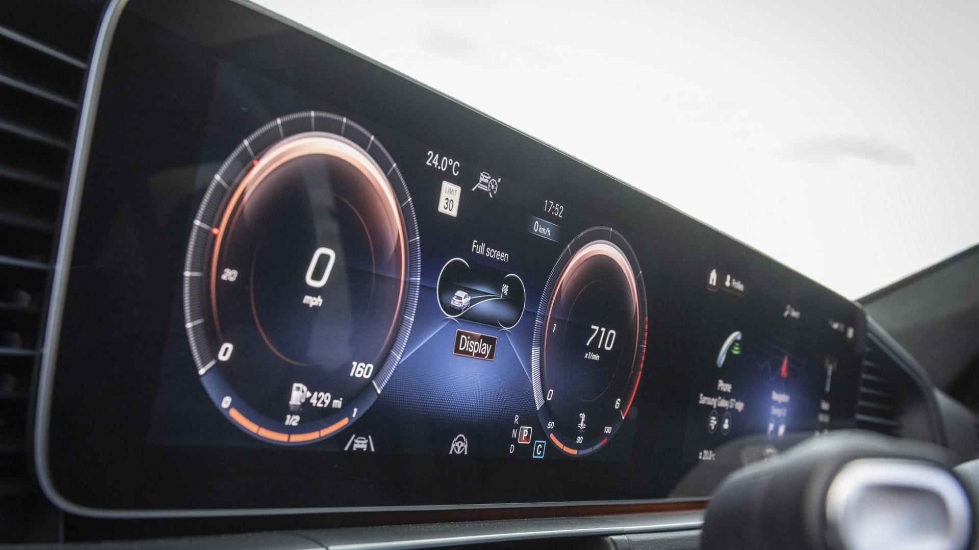 Mercedes-Benz GLE display