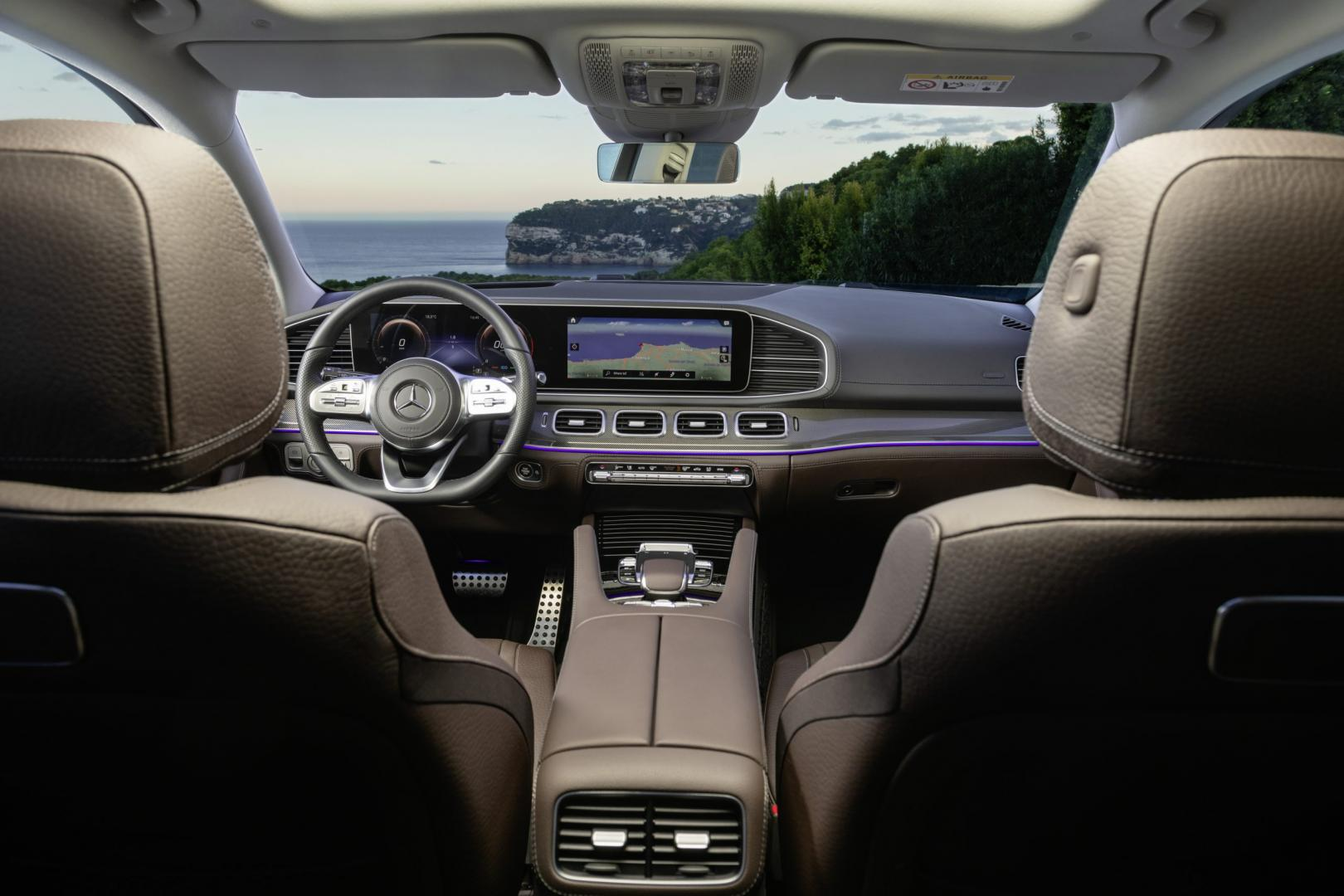 Mercedes-Benz GLS 2019 interieur espressobruin