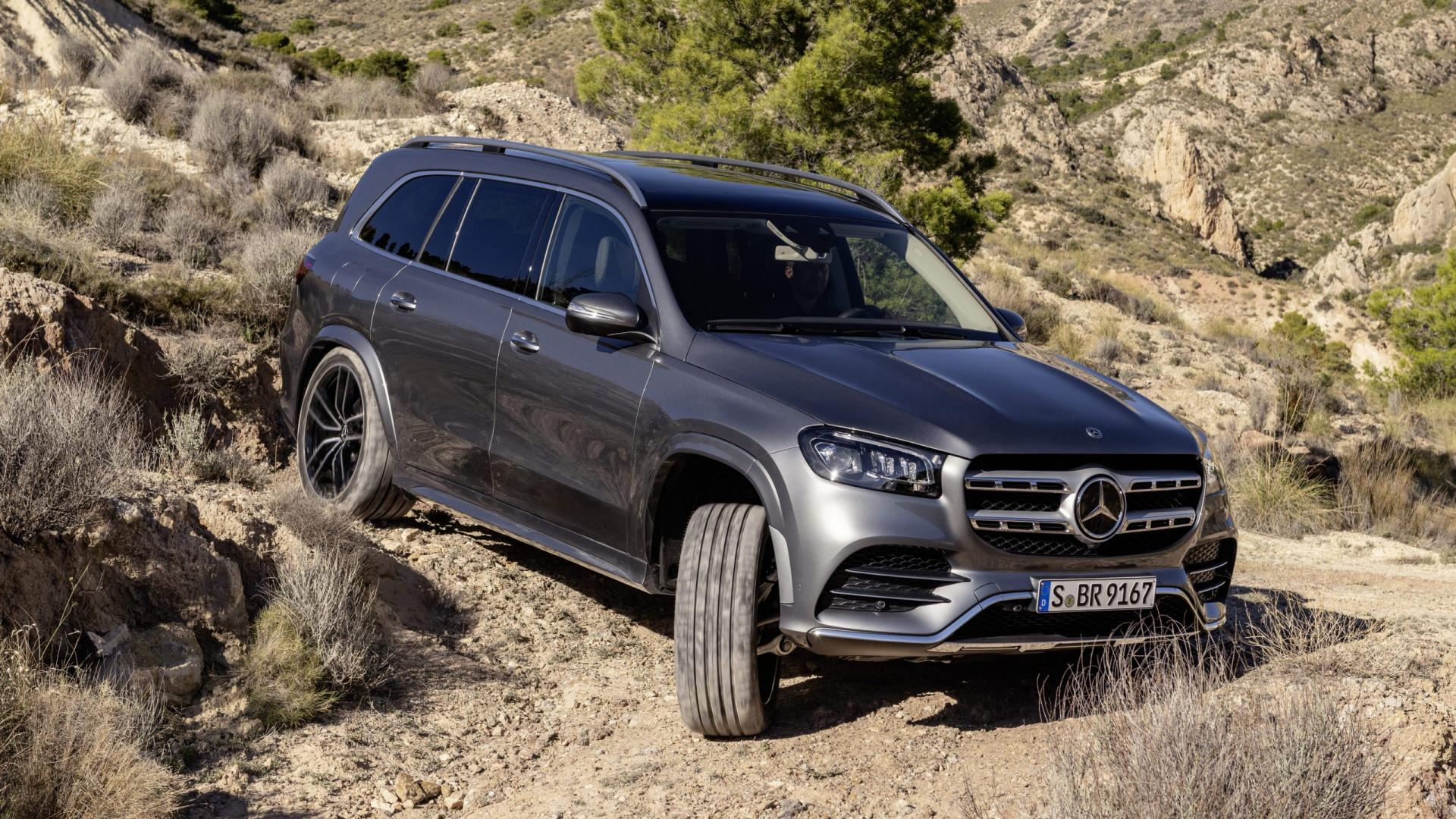 Mercedes-Benz GLS, 2019 AMG Line Selenite Grey offroad