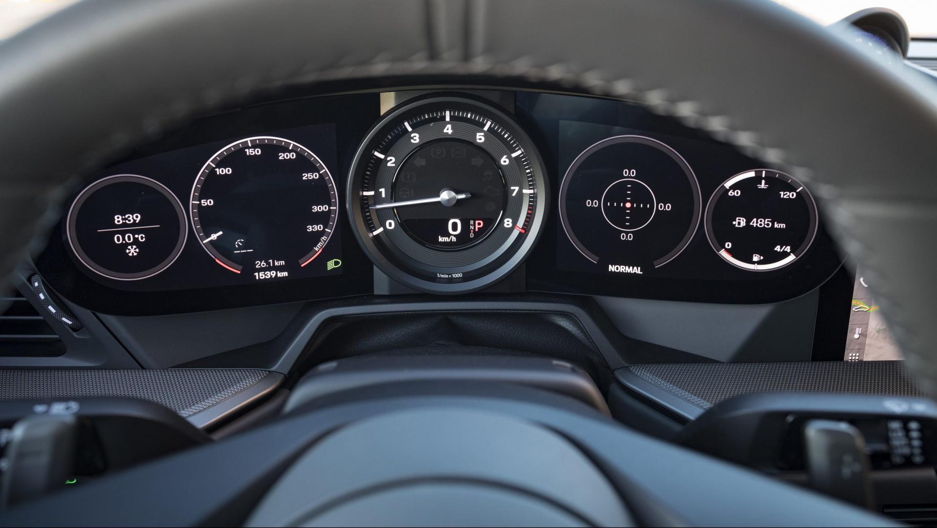 Porsche 911 Carrera 4S Sport Plus interieur meters