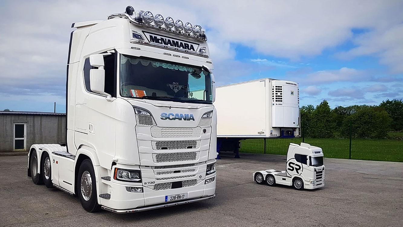 Scania-vrachtwagen voor kinderen