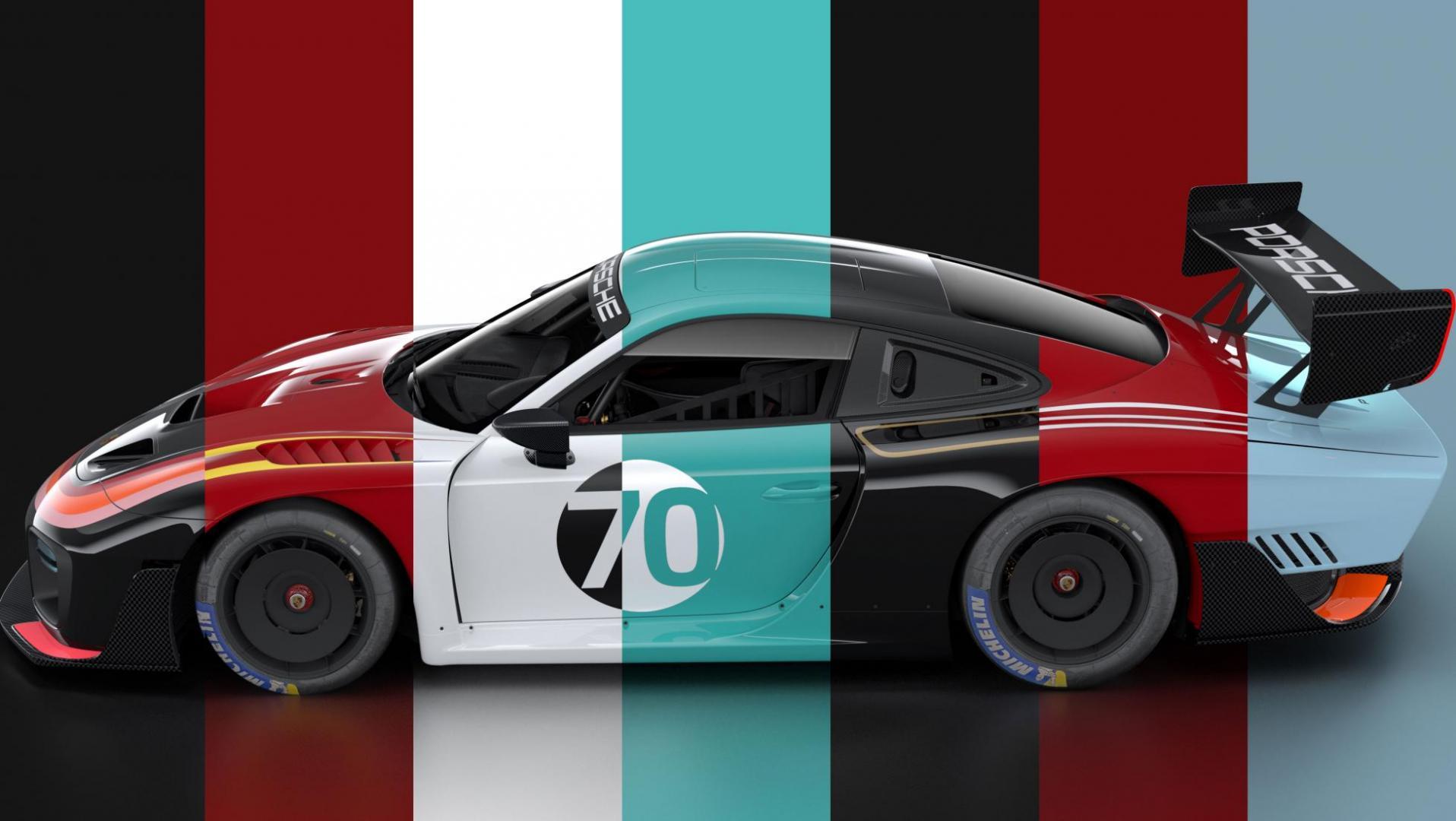 Porsche 935 in retro-kleuren