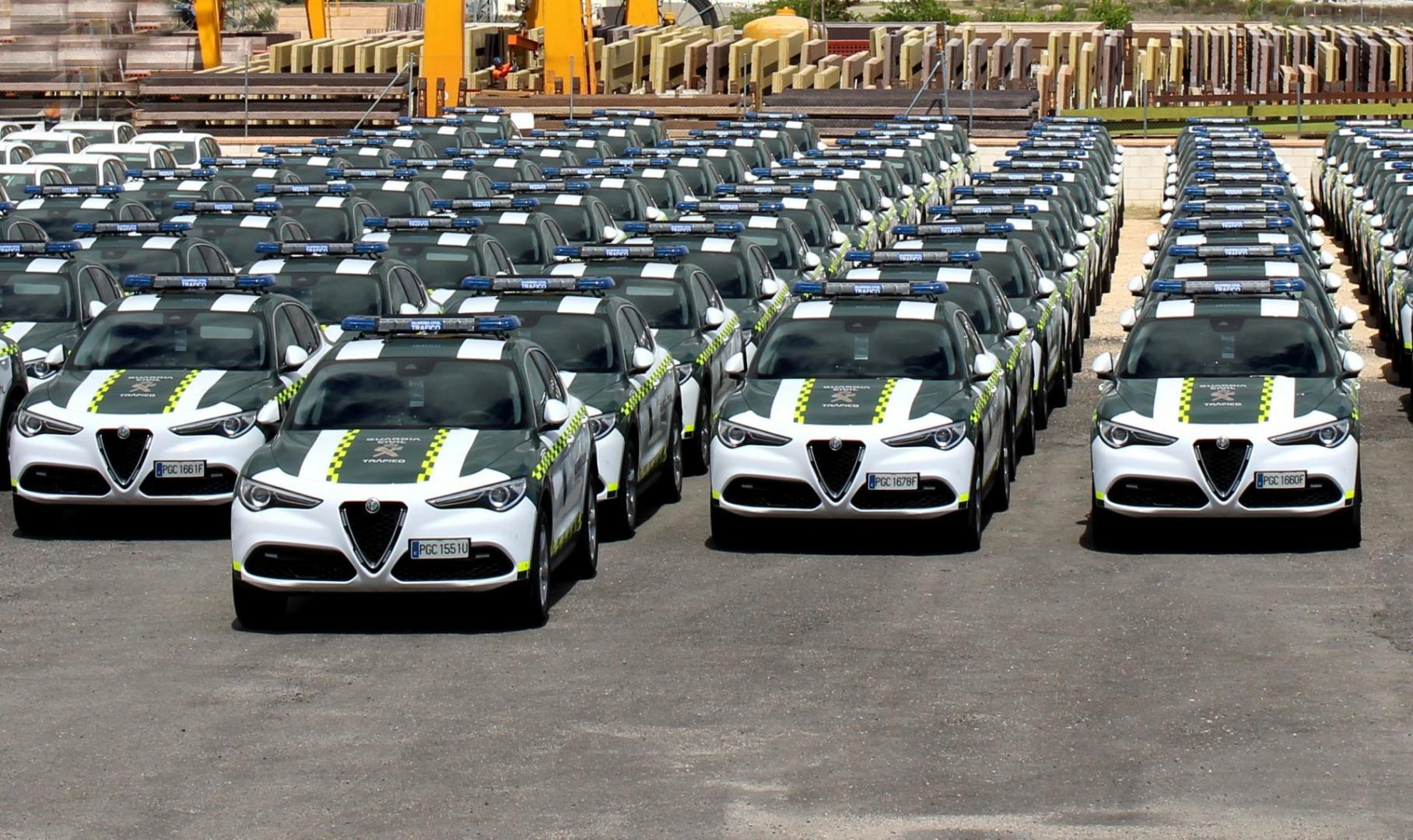 Alfa Romeo Stelvio's voor de Guardia Civil