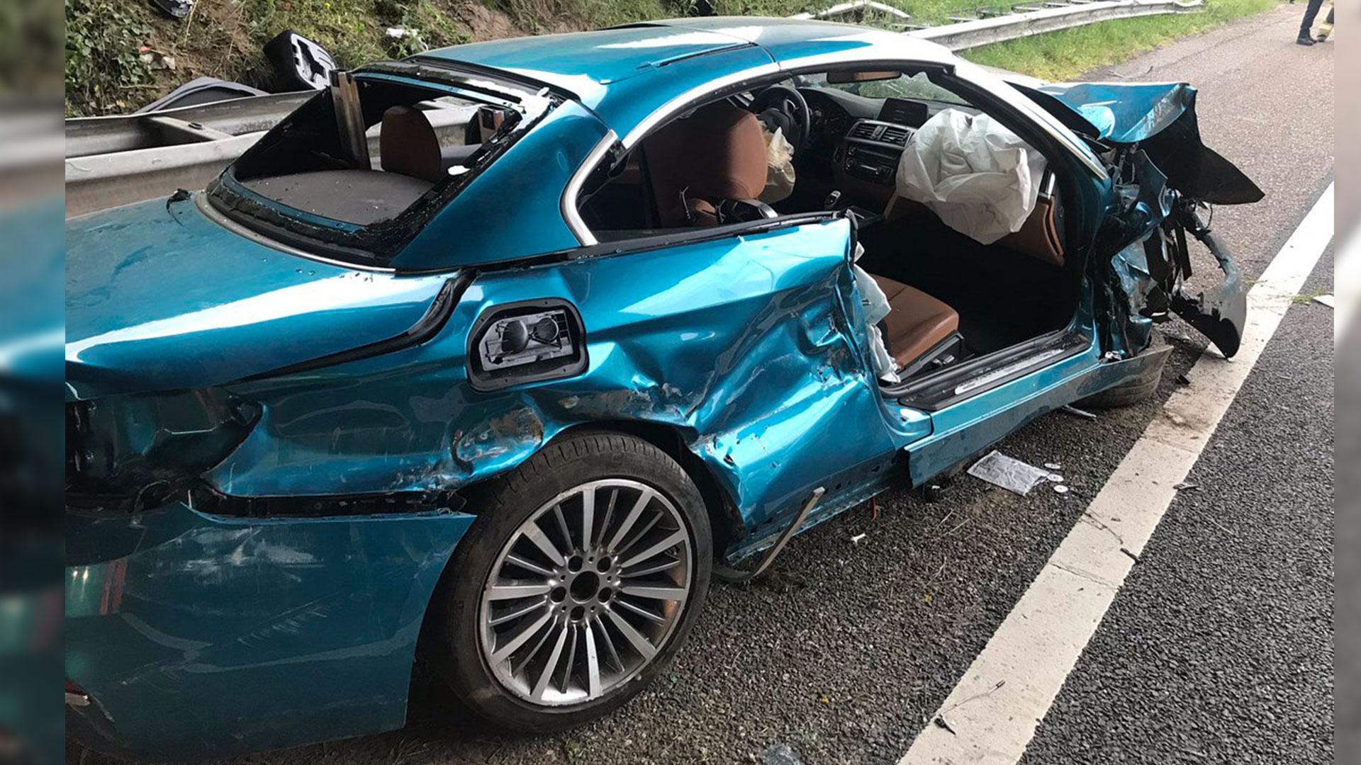 BMW 4-serie cabrio crash