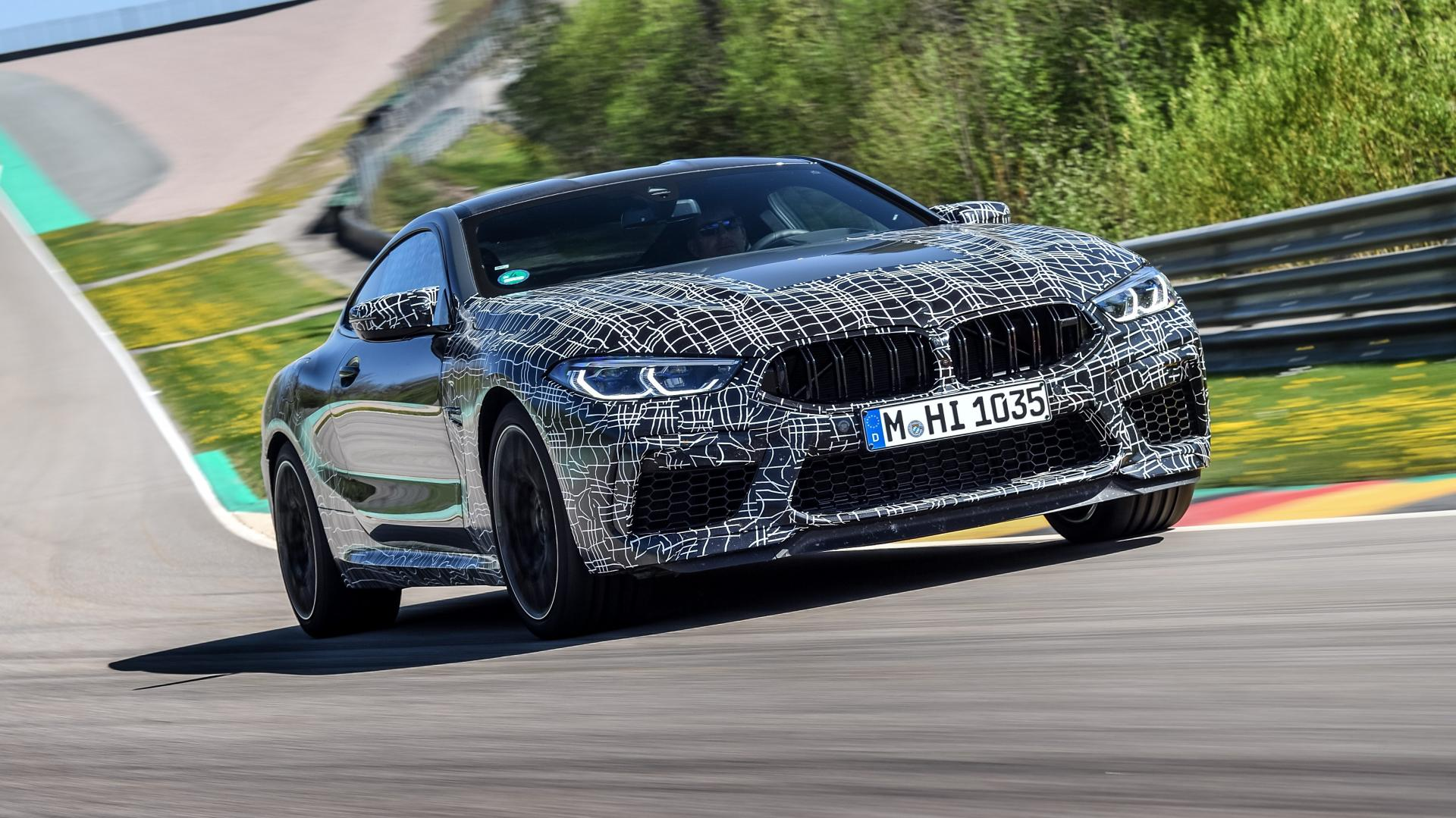 BMW M8 in camouflage