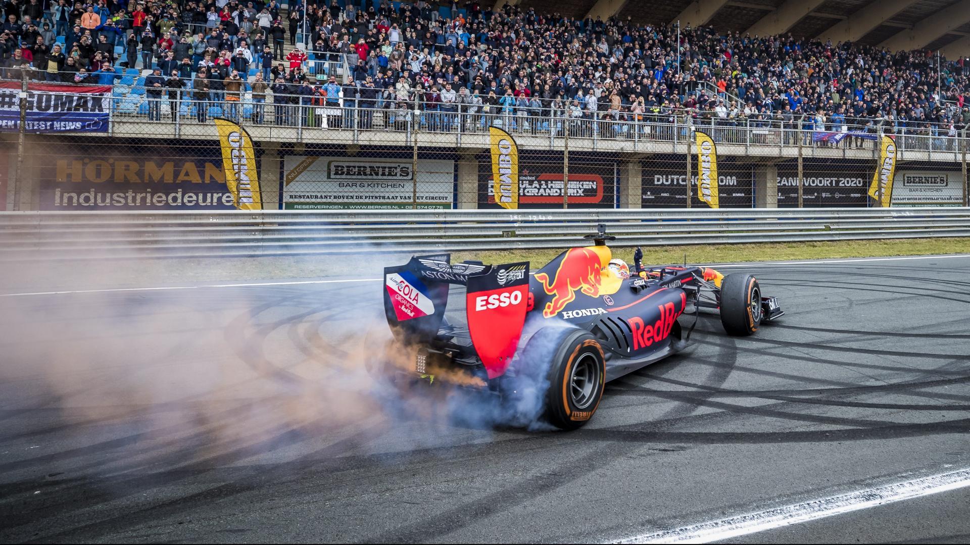 Max Verstappen op Circuit Zandvoort