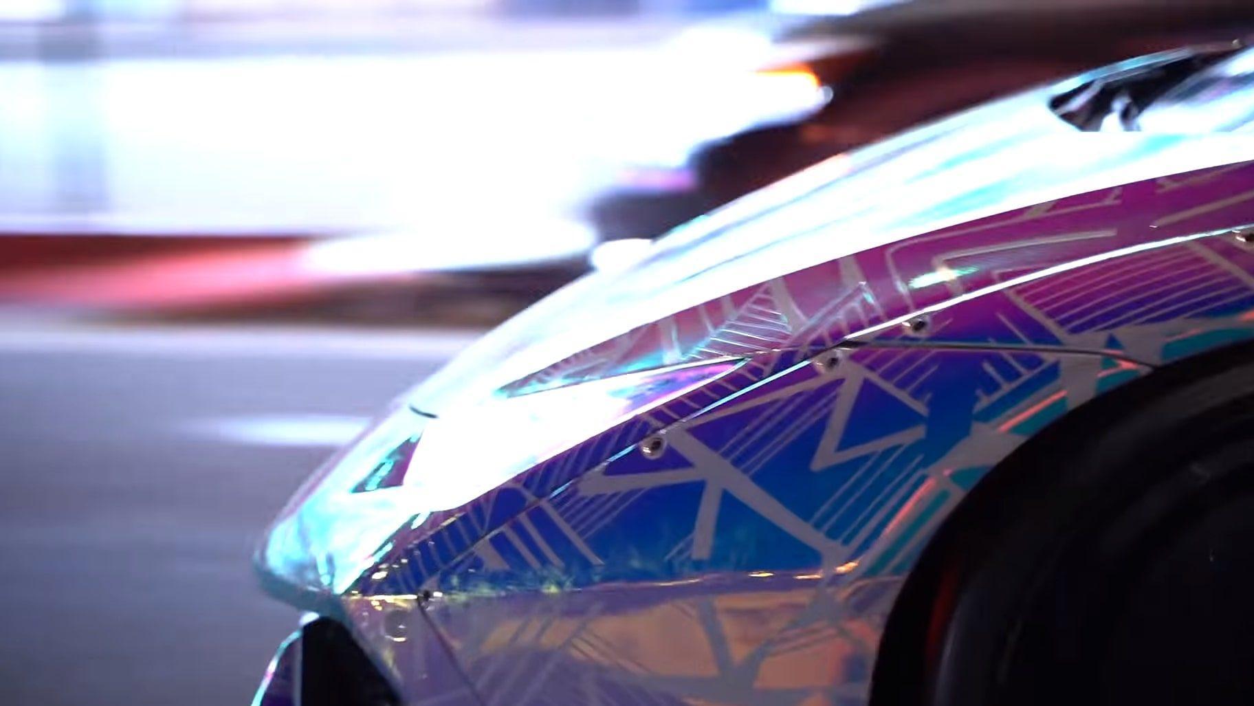 Lamborghini Huracan van Chris Brown