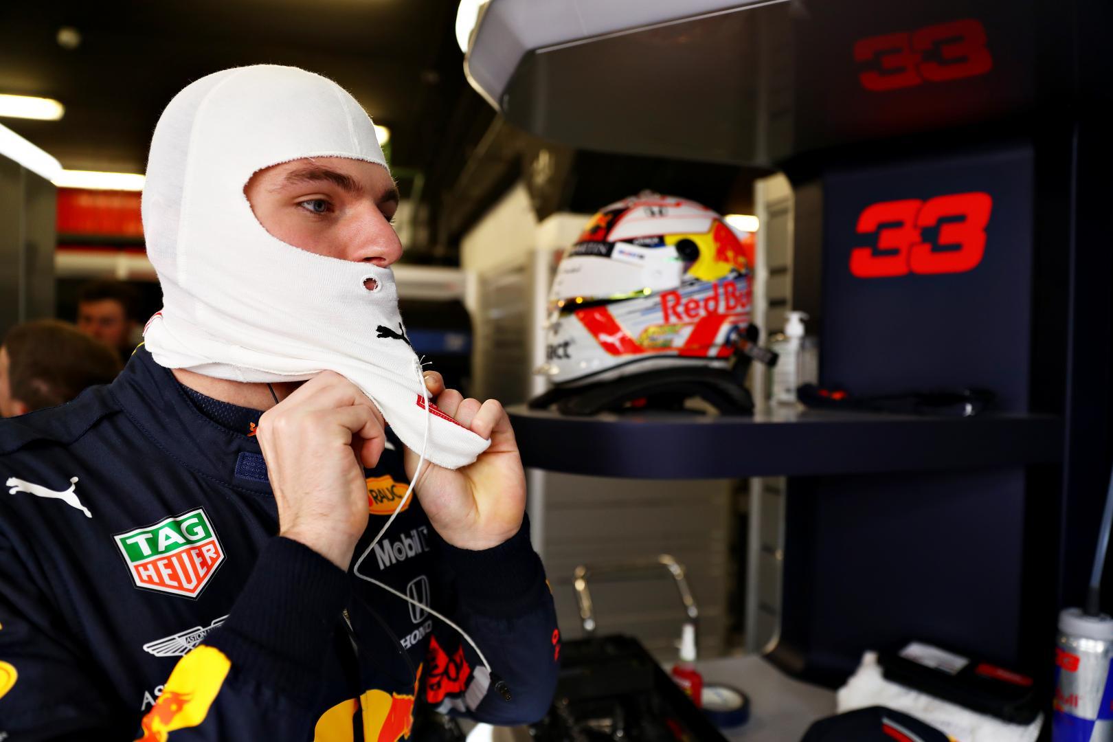 Max Verstappen tijdens GP van Spanje
