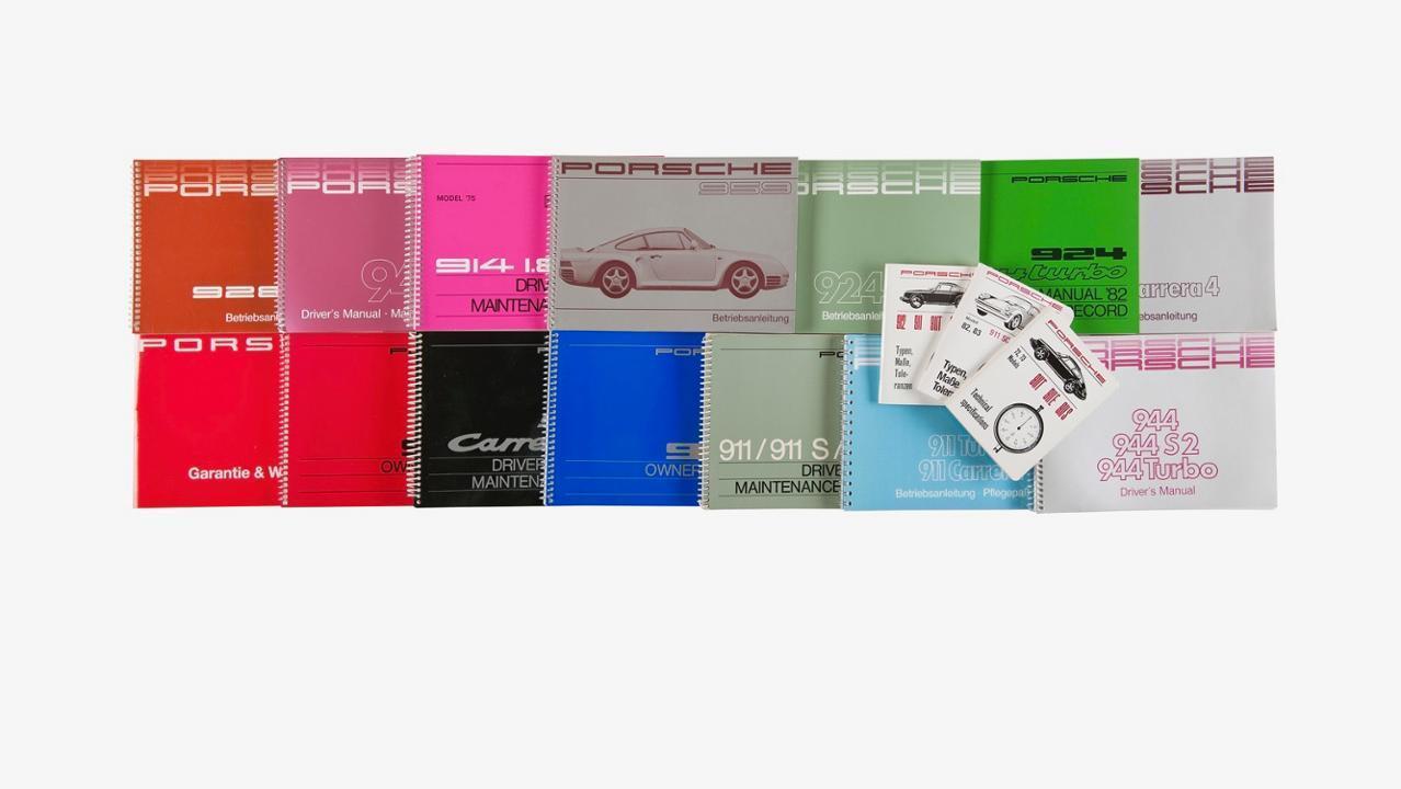 Porsches instructie- en onderhoudsboekjes