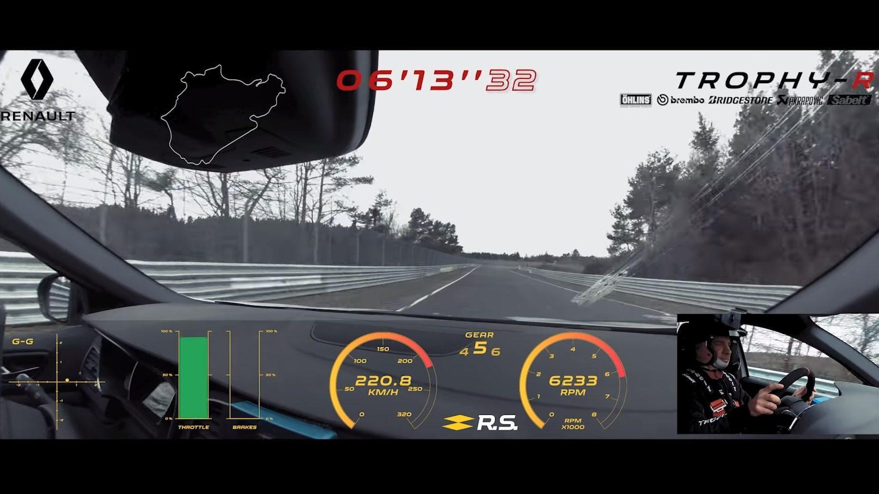 POV-video van de Mégane RS Trophy-R op de Ring