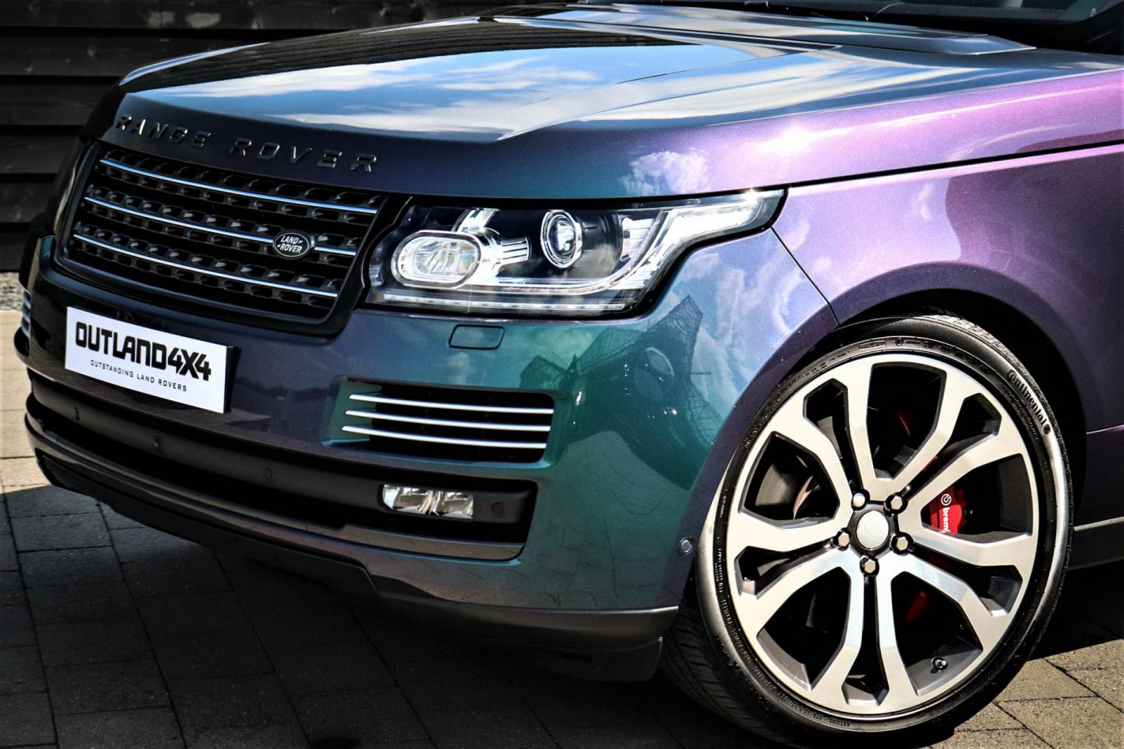 Range Rover in SVO Spectral Blue Ultra