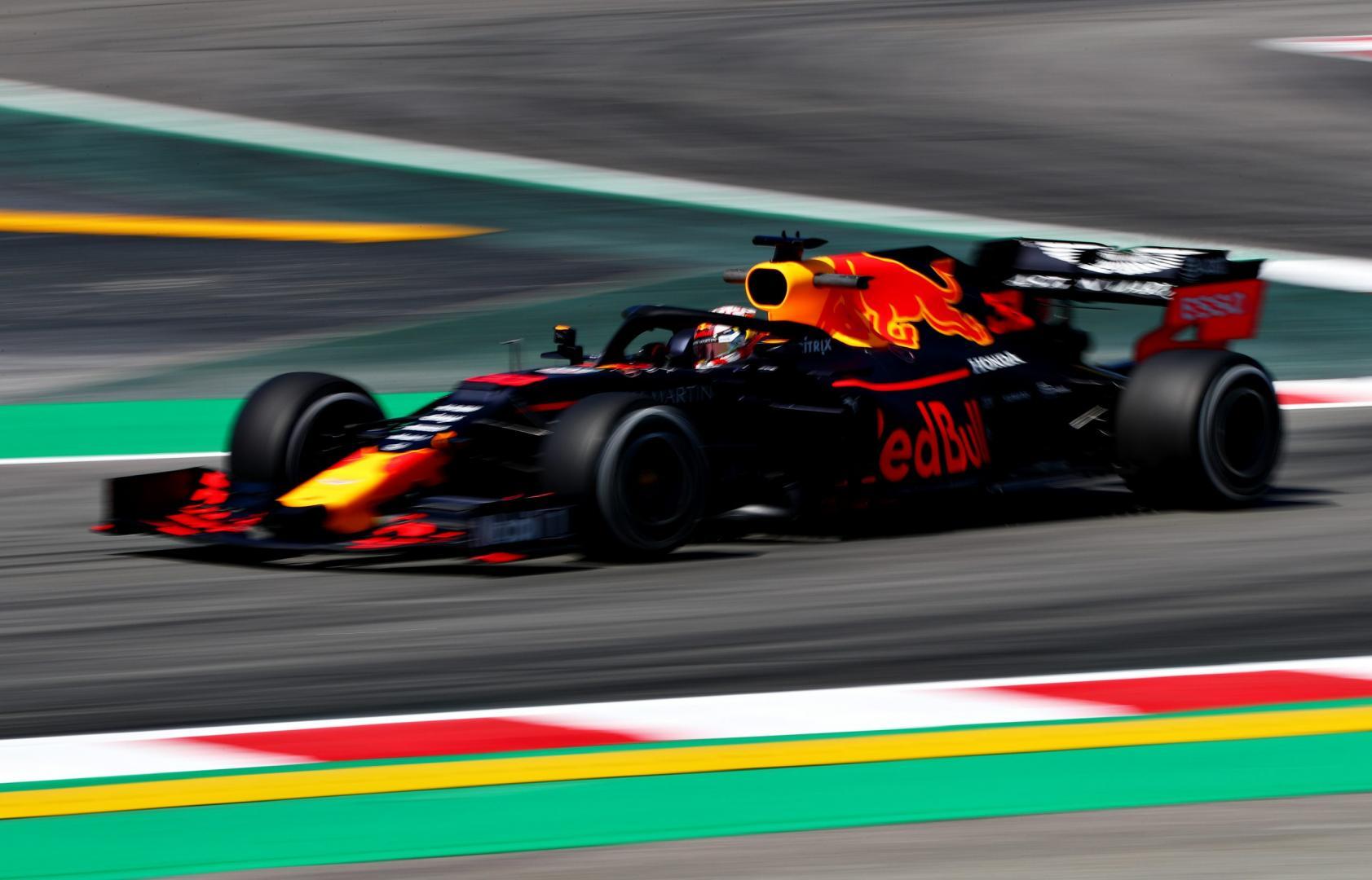 Max Verstappen tijdens 2e vrije training van de Gp van Spanje 2019