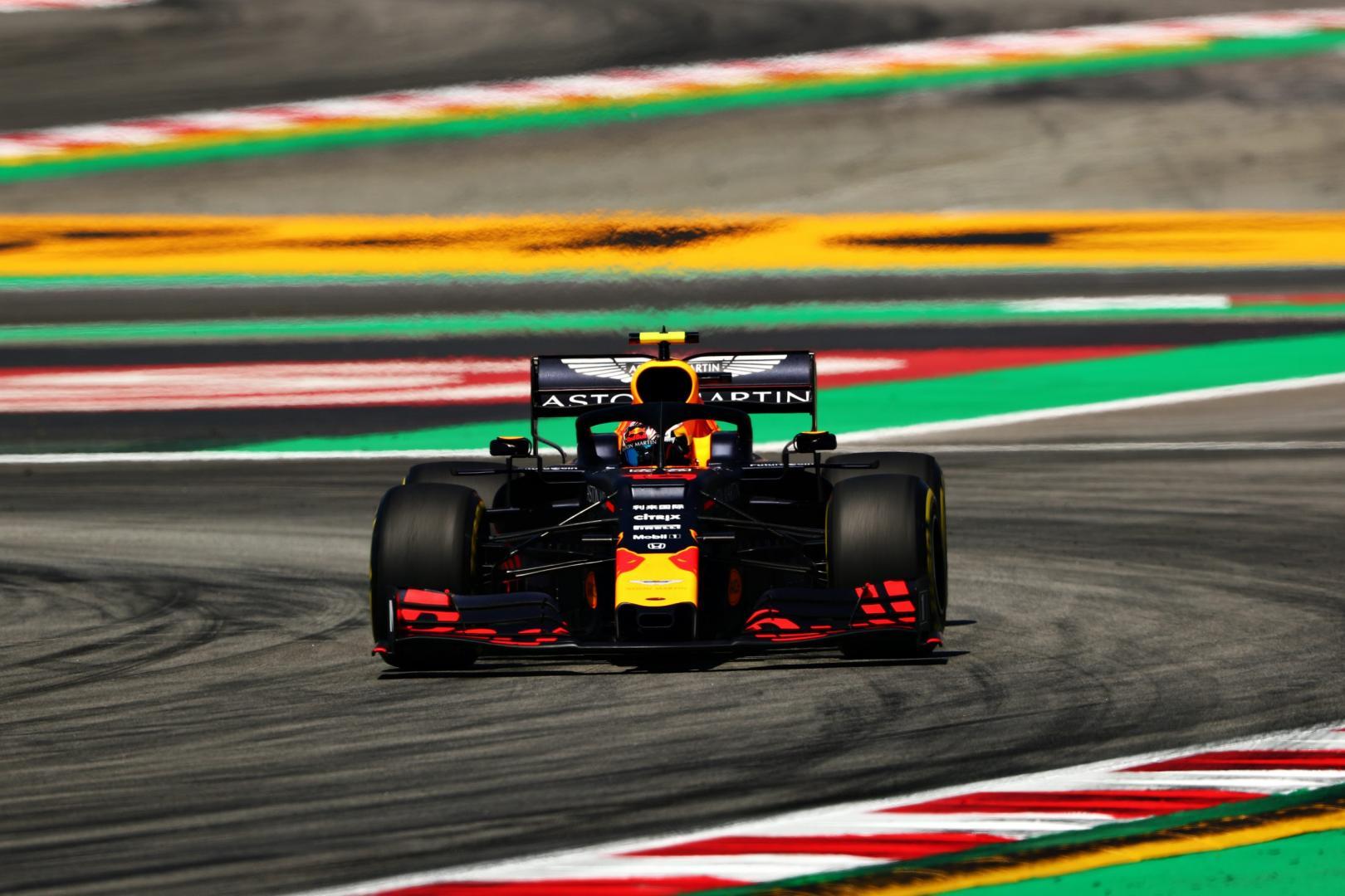 Red Bull RB14 van Pierre Gasly tijdens de GP van Spanje