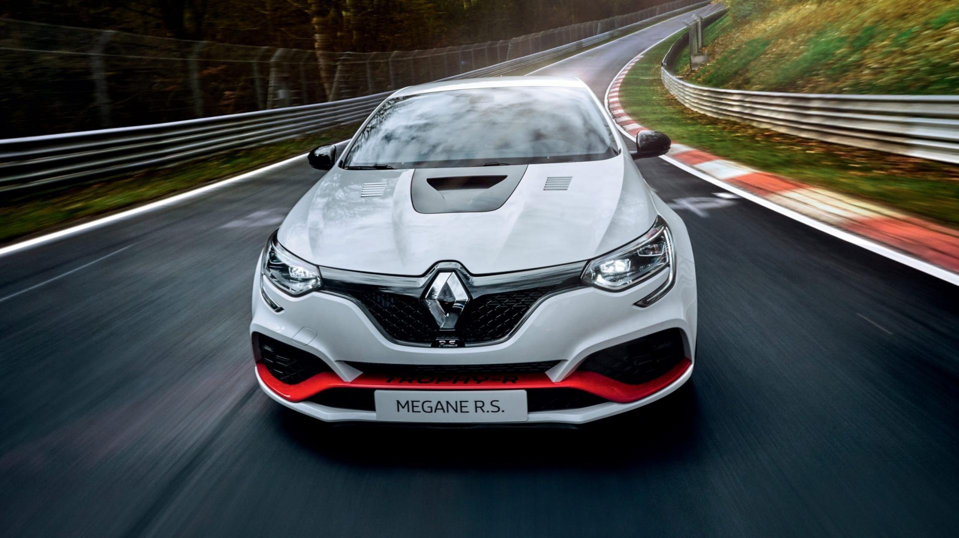 Renault Megane RS Trophy-R op de nurburgring nordschleife record voorwielaandrijving