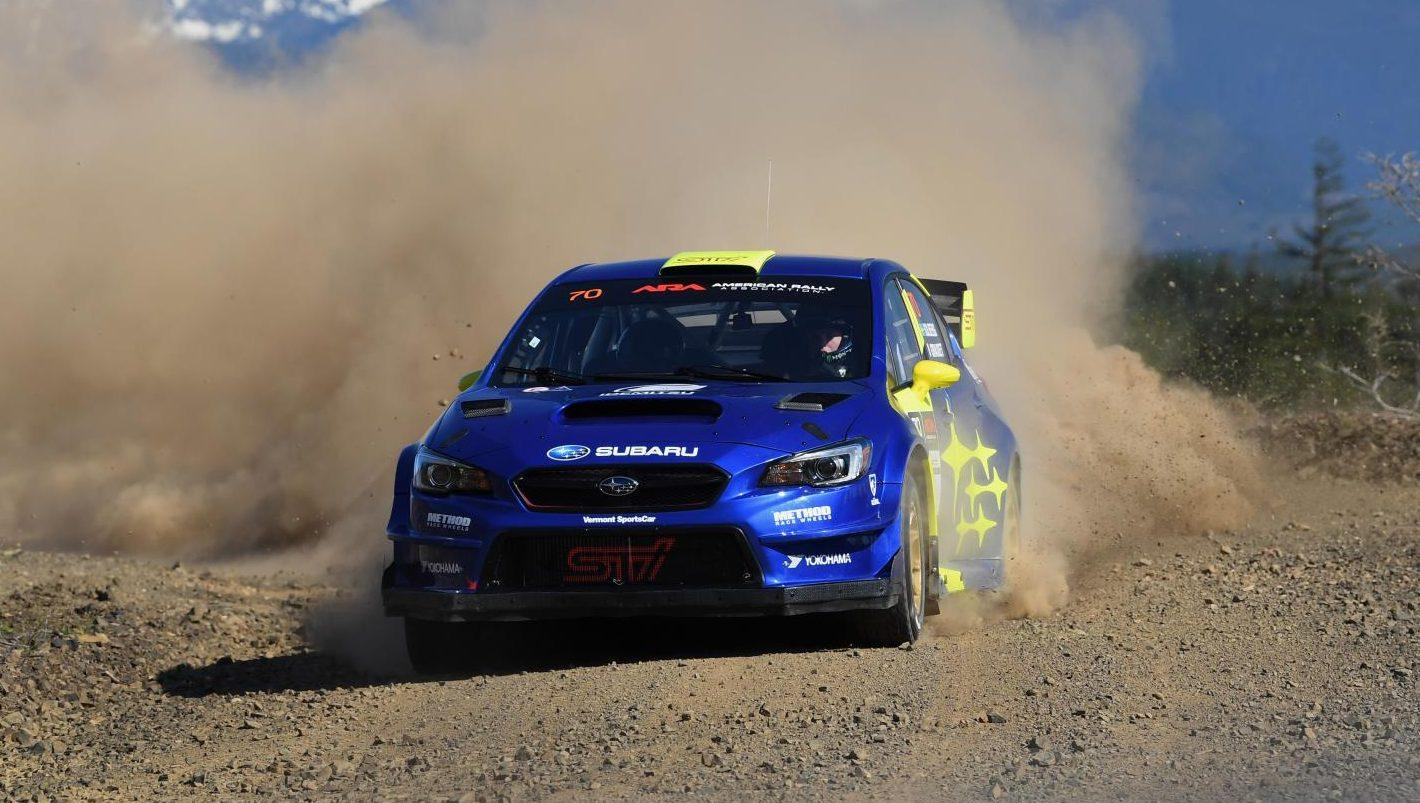 Subaru WRX STI rallyauto Oliver Solberg