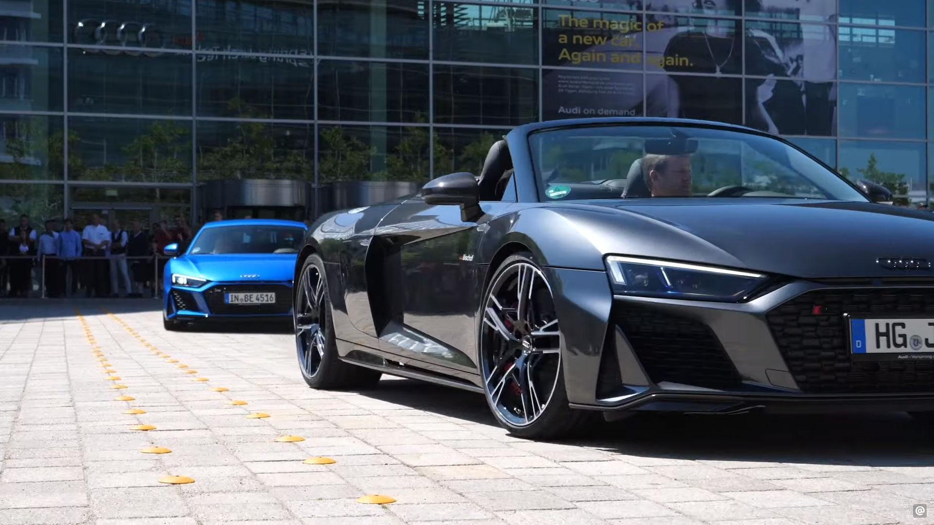 38 Audi R8's tegelijk afgeleverd