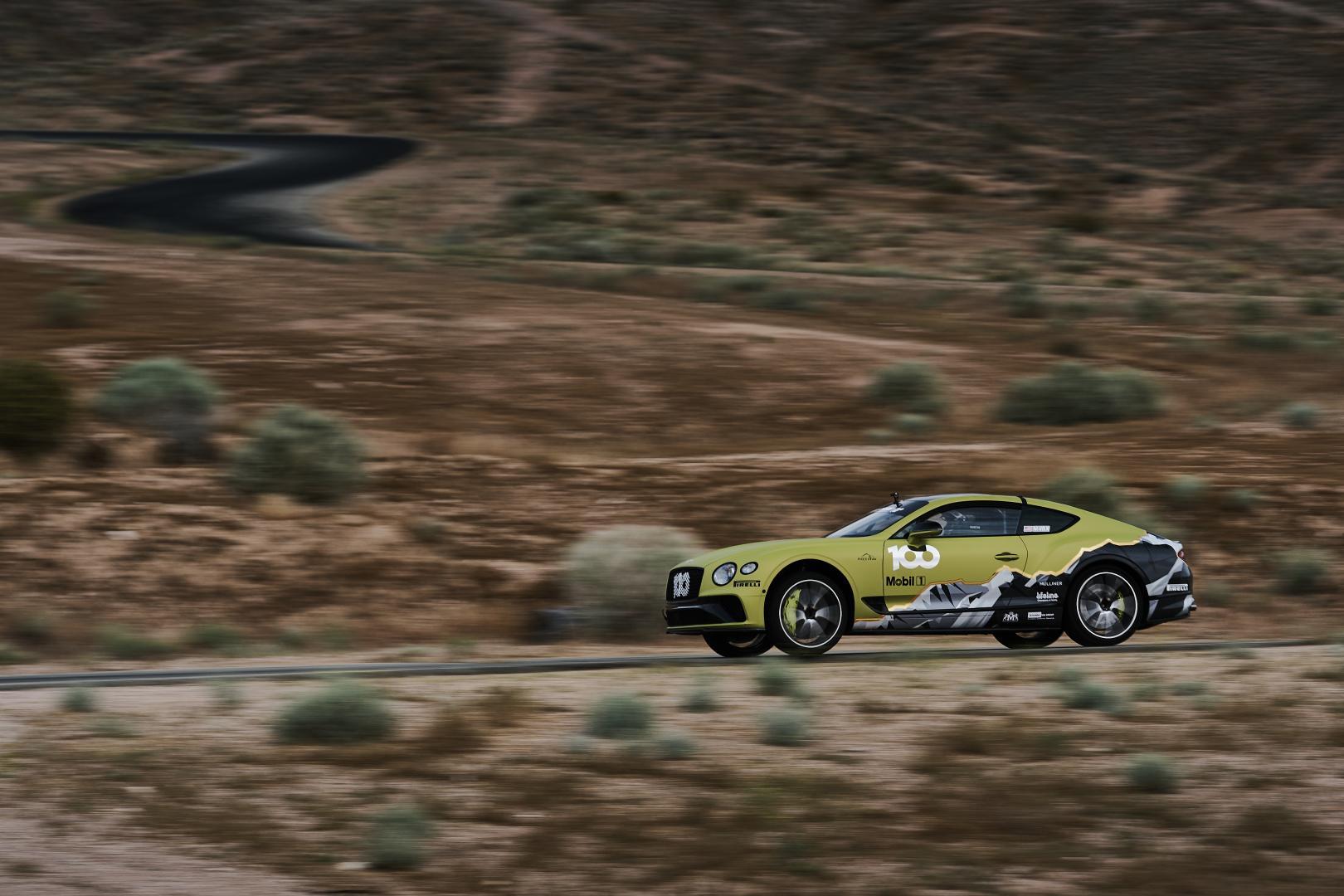 Bentley Continental GT Pikes Peak op Willow Spring