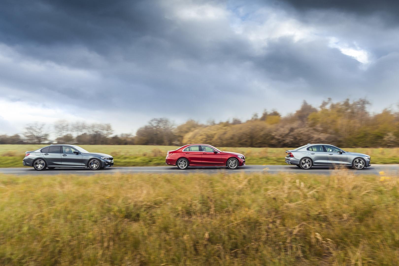 Mercedes C300 vs Volvo S60 T5 vs BMW 330i